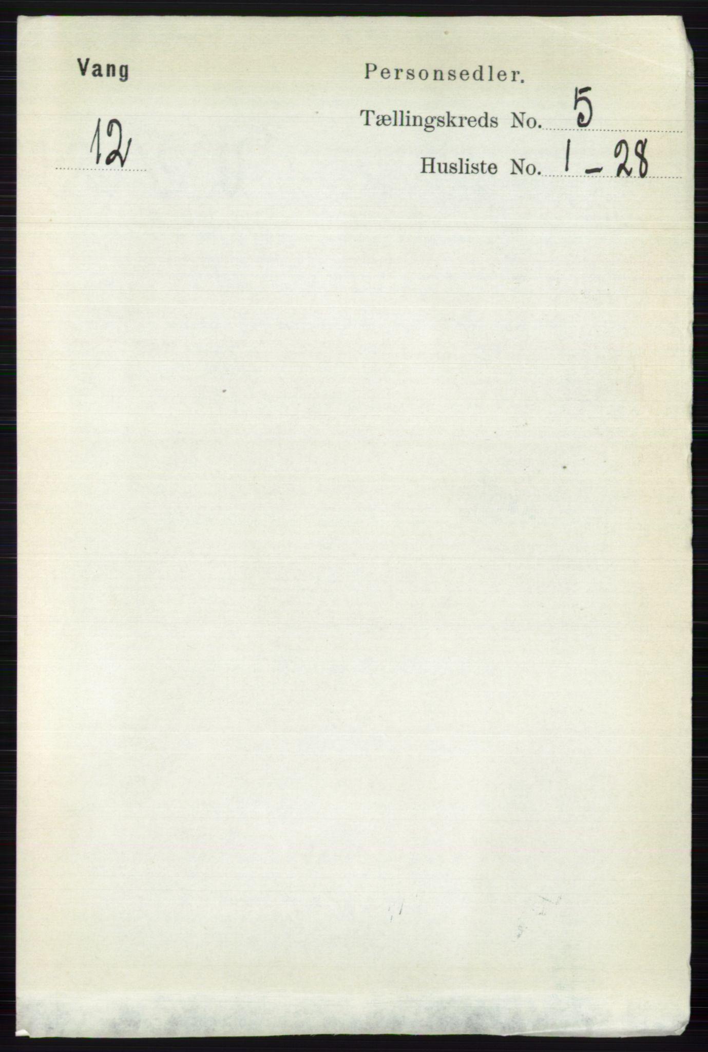 RA, Folketelling 1891 for 0545 Vang herred, 1891, s. 1036