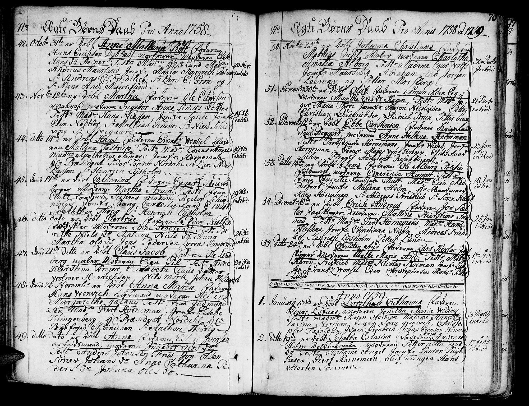 SAT, Ministerialprotokoller, klokkerbøker og fødselsregistre - Sør-Trøndelag, 602/L0103: Ministerialbok nr. 602A01, 1732-1774, s. 70