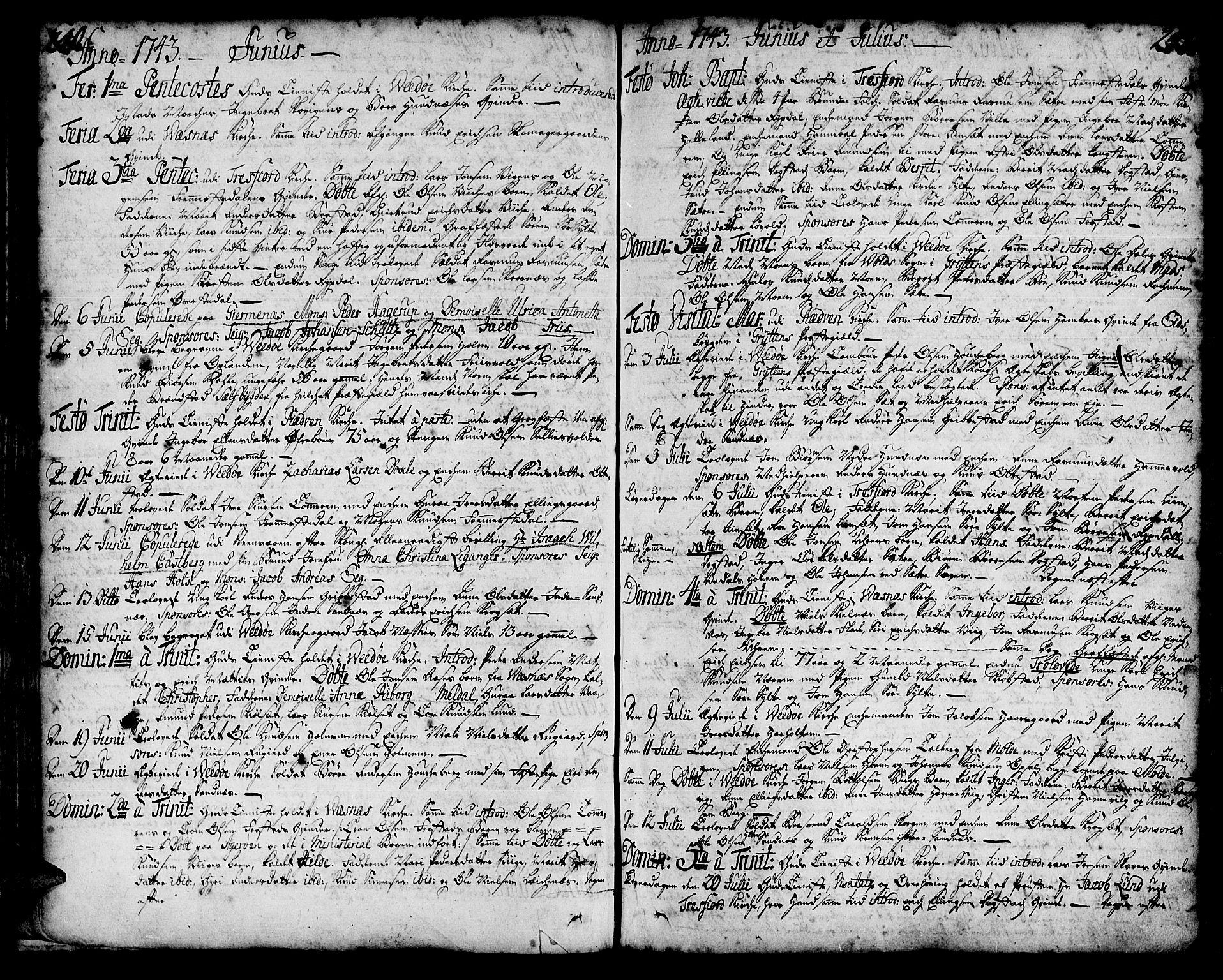SAT, Ministerialprotokoller, klokkerbøker og fødselsregistre - Møre og Romsdal, 547/L0599: Ministerialbok nr. 547A01, 1721-1764, s. 240-241