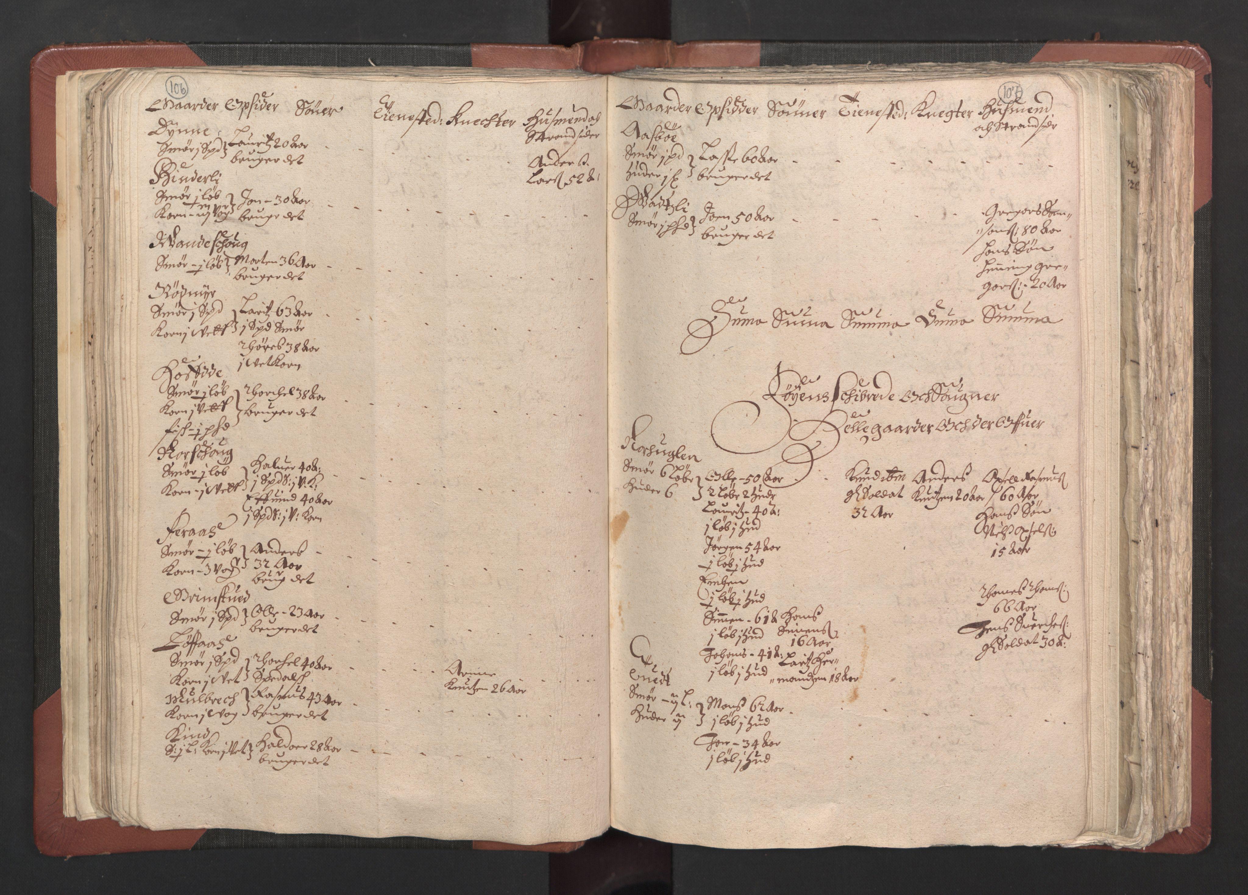 RA, Fogdenes og sorenskrivernes manntall 1664-1666, nr. 13: Nordhordland fogderi og Sunnhordland fogderi, 1665, s. 106-107