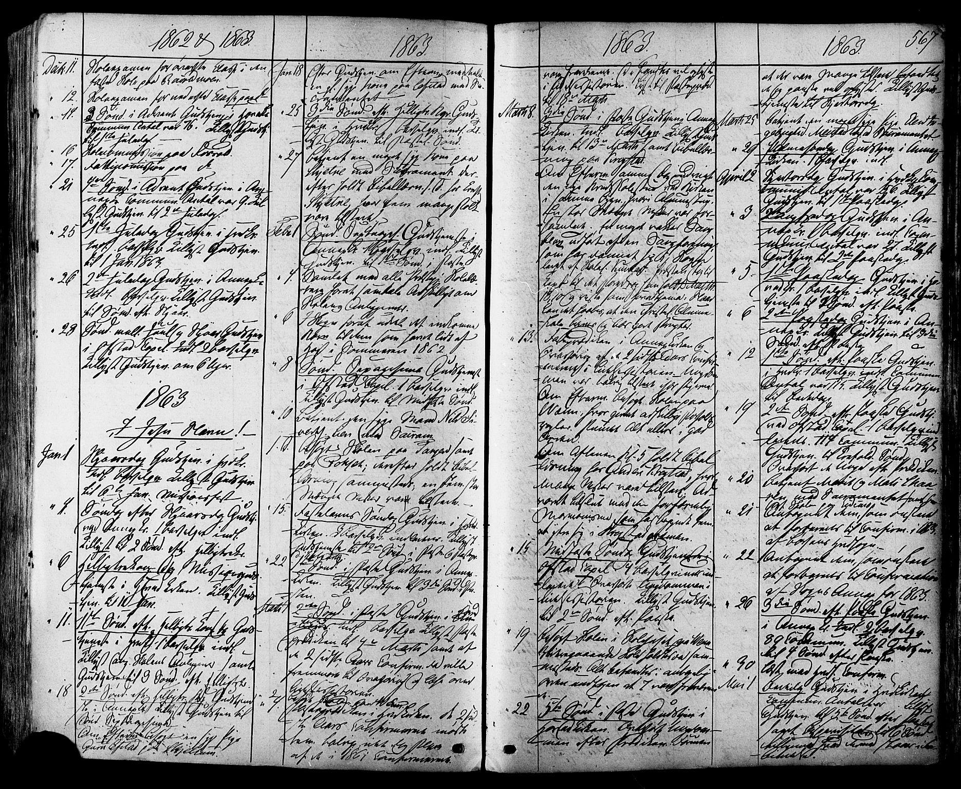 SAT, Ministerialprotokoller, klokkerbøker og fødselsregistre - Sør-Trøndelag, 665/L0772: Ministerialbok nr. 665A07, 1856-1878, s. 567