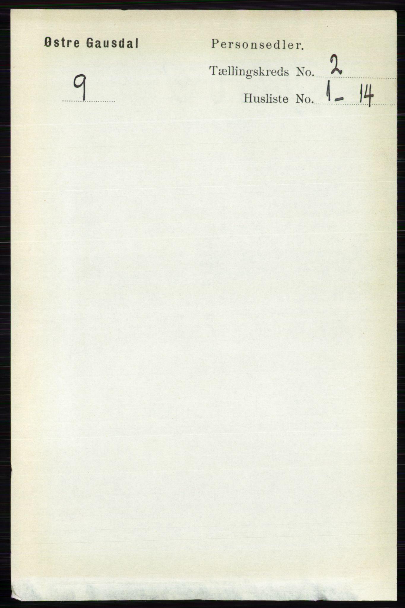 RA, Folketelling 1891 for 0522 Østre Gausdal herred, 1891, s. 1152