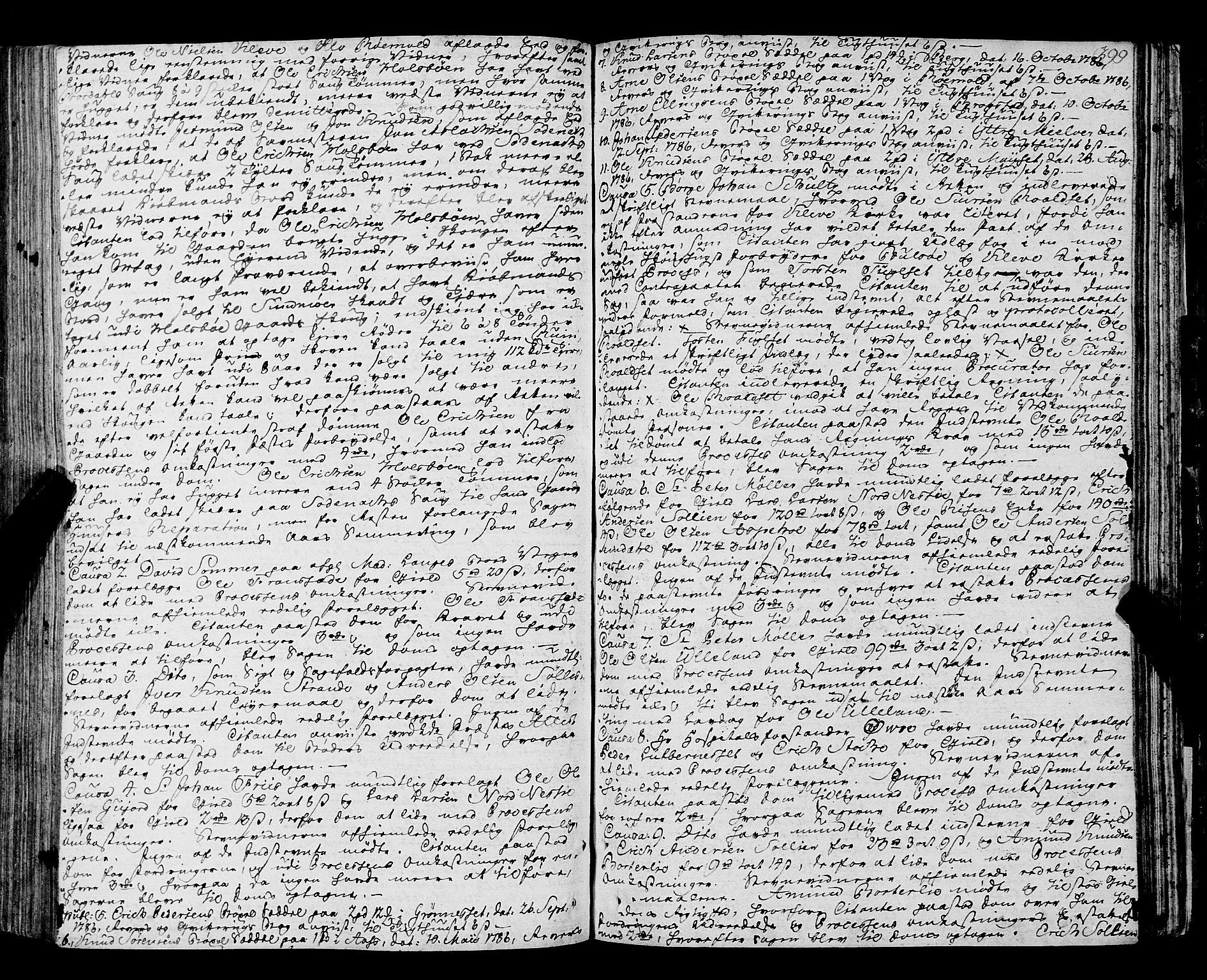 SAT, Romsdal sorenskriveri, 1/1A/L0016: Tingbok, 1775-1788, s. 398b-399a
