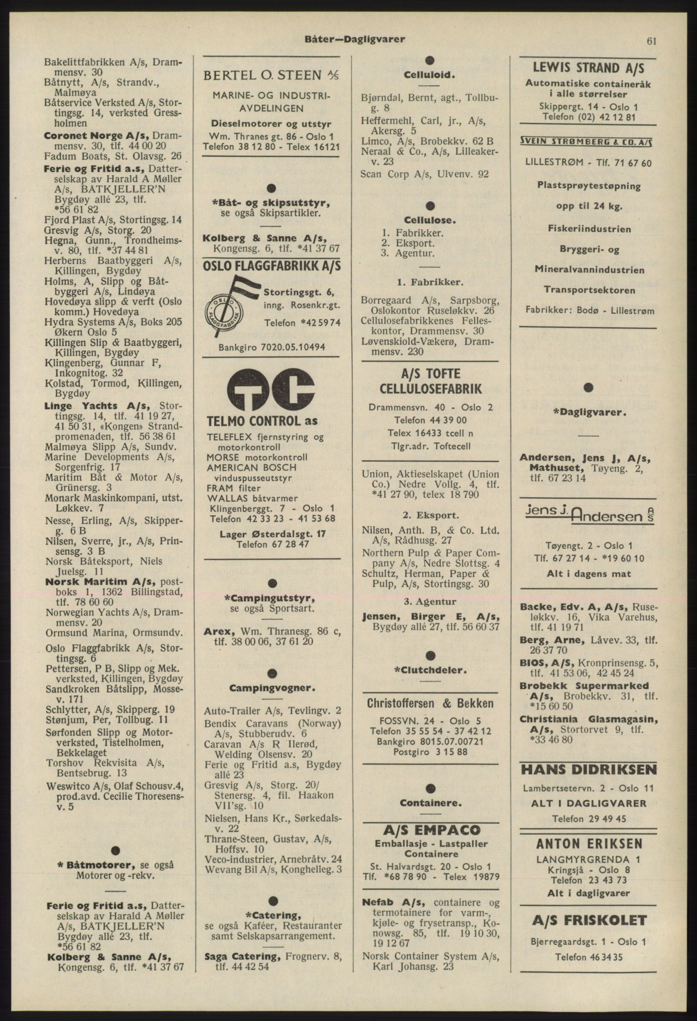 PUBL, Kristiania/Oslo adressebok, 1975-1976, s. 61