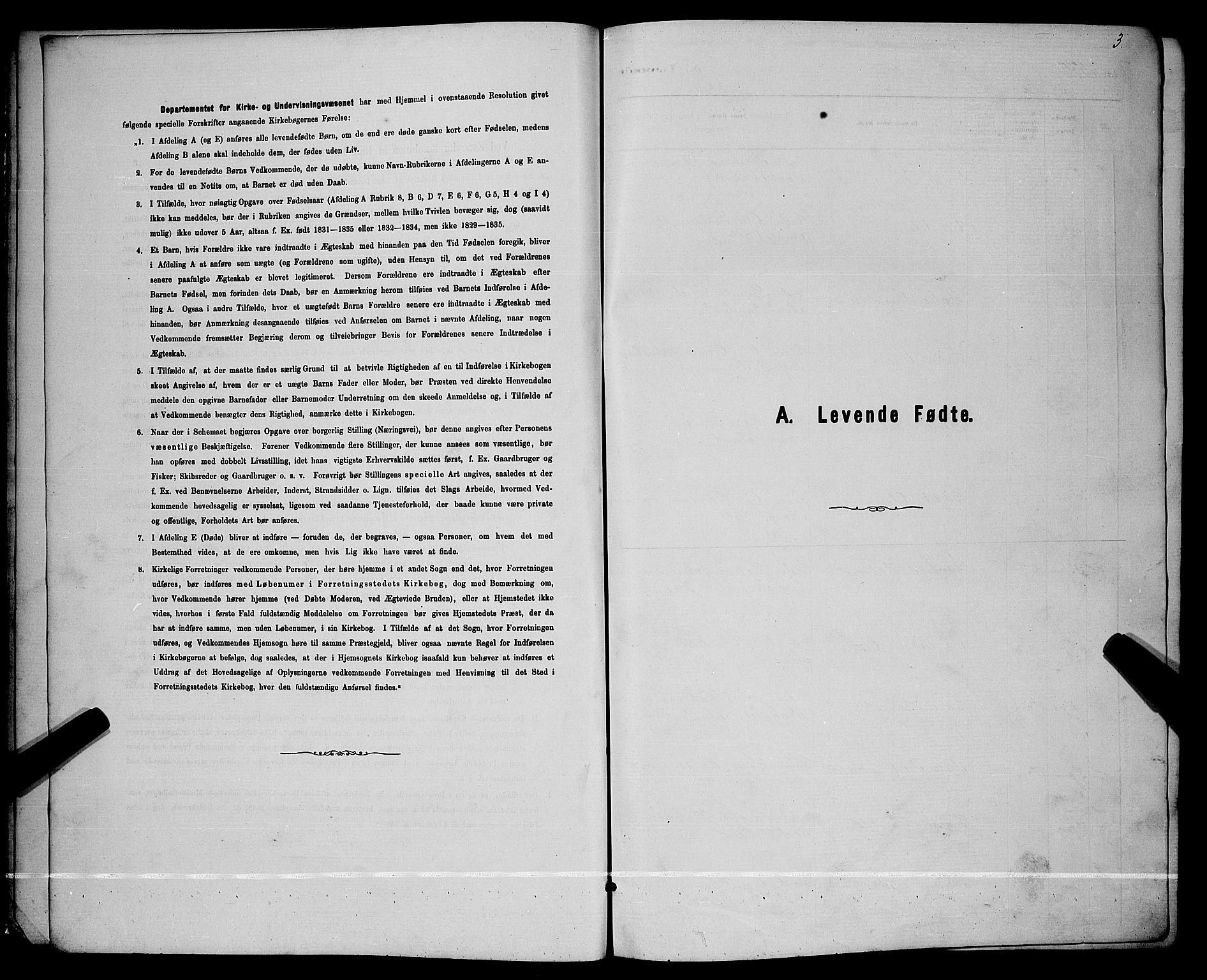 SAKO, Lunde kirkebøker, G/Ga/L0001b: Klokkerbok nr. I 1, 1879-1887, s. 3