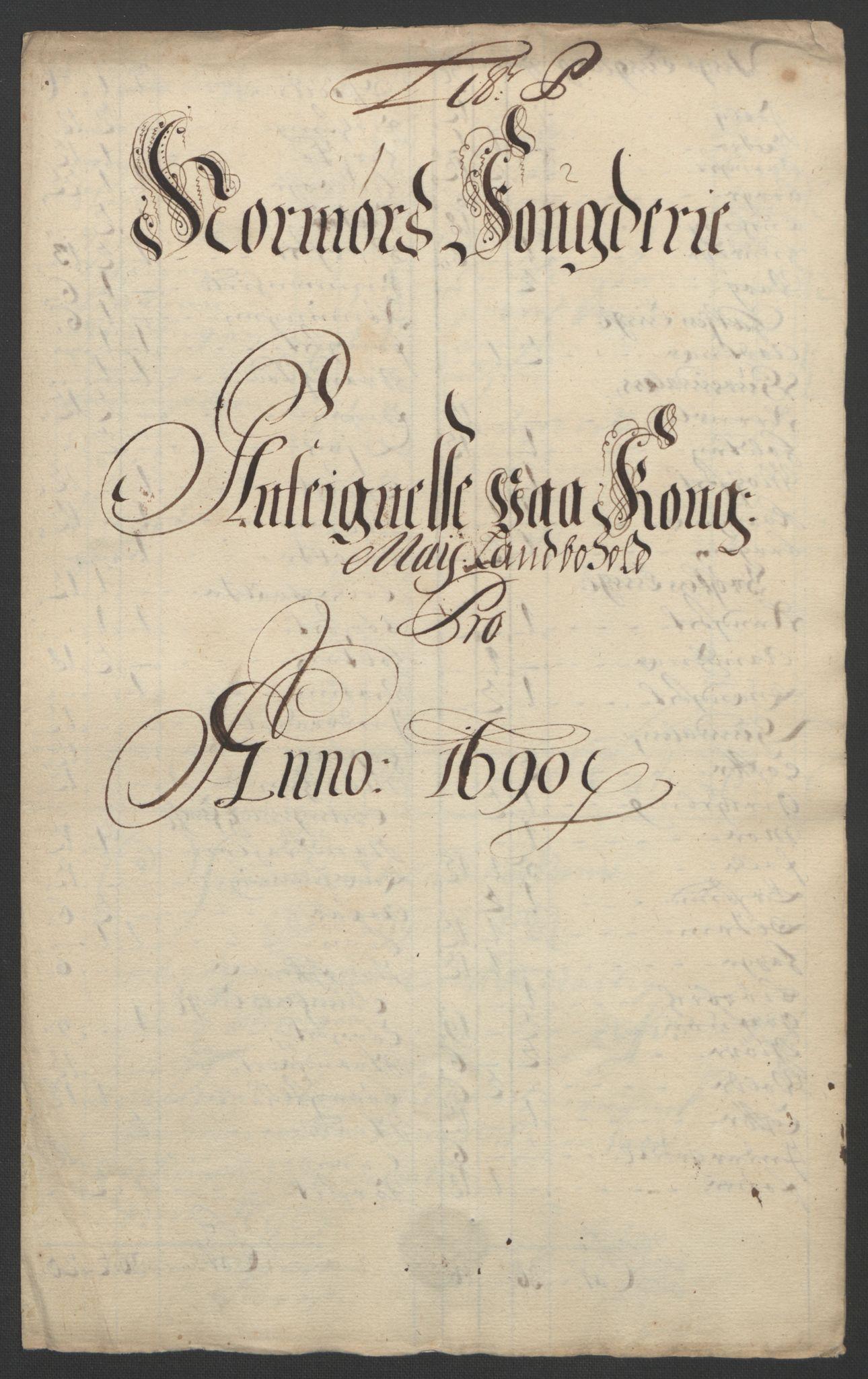 RA, Rentekammeret inntil 1814, Reviderte regnskaper, Fogderegnskap, R56/L3734: Fogderegnskap Nordmøre, 1690-1691, s. 199