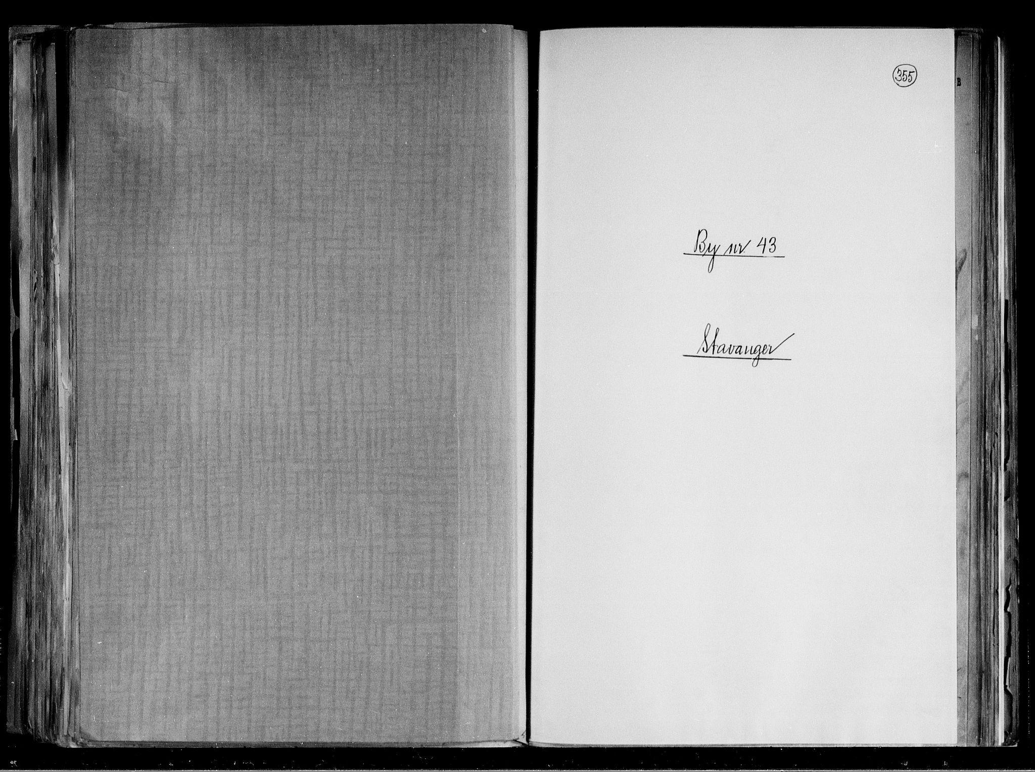 RA, Folketelling 1891 for 1103 Stavanger kjøpstad, 1891, s. 1