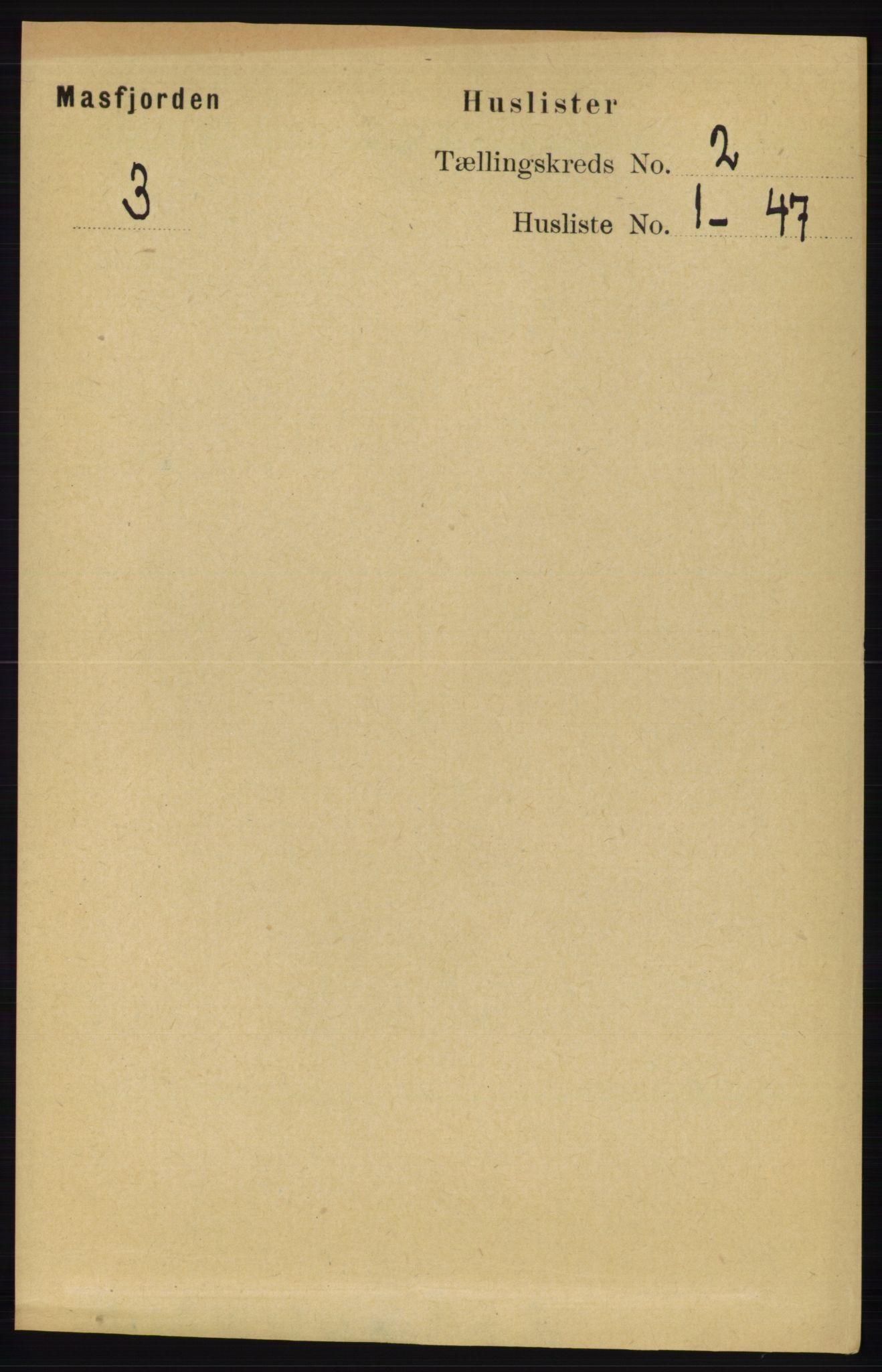 RA, Folketelling 1891 for 1266 Masfjorden herred, 1891, s. 142