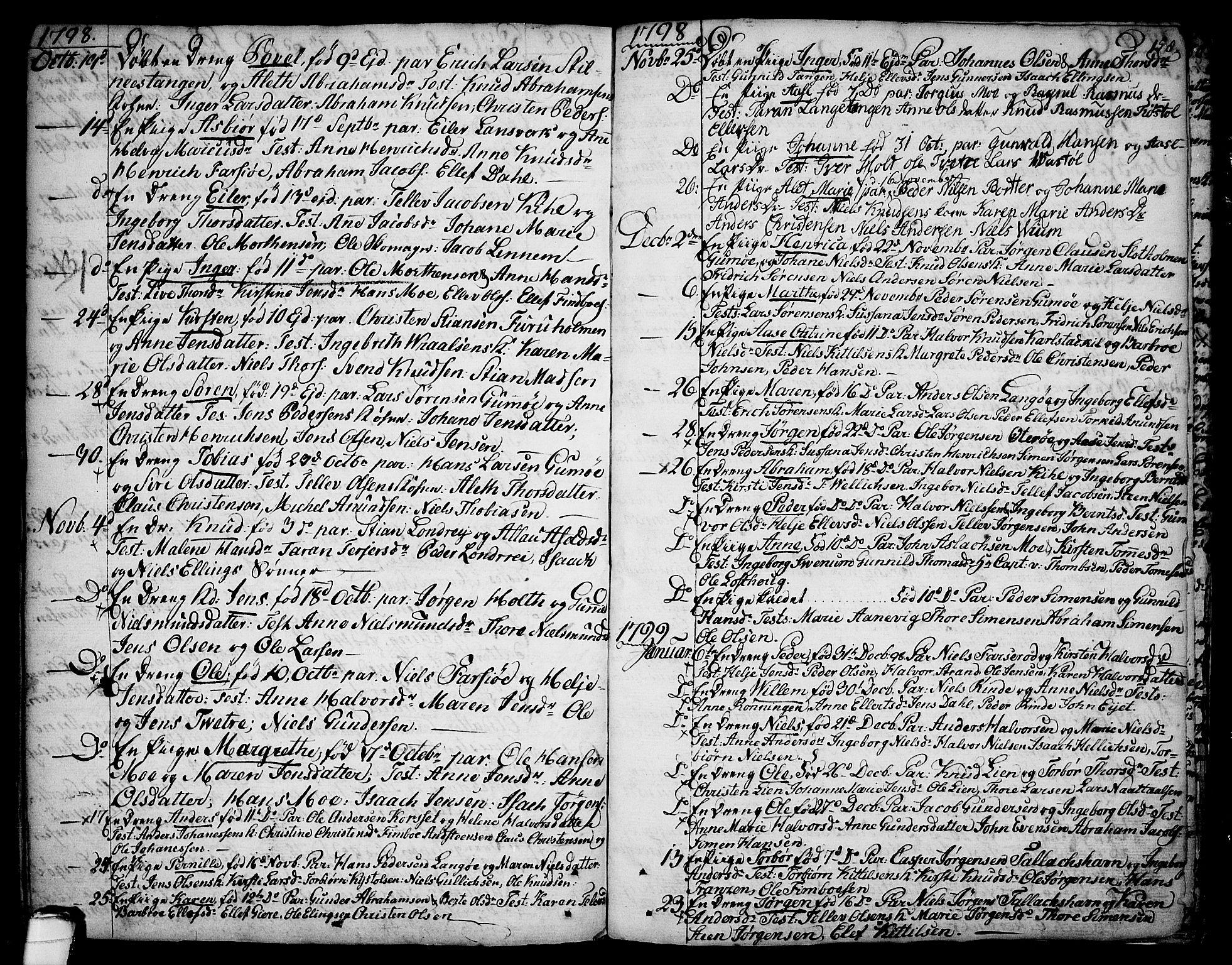 SAKO, Sannidal kirkebøker, F/Fa/L0002: Ministerialbok nr. 2, 1767-1802, s. 158