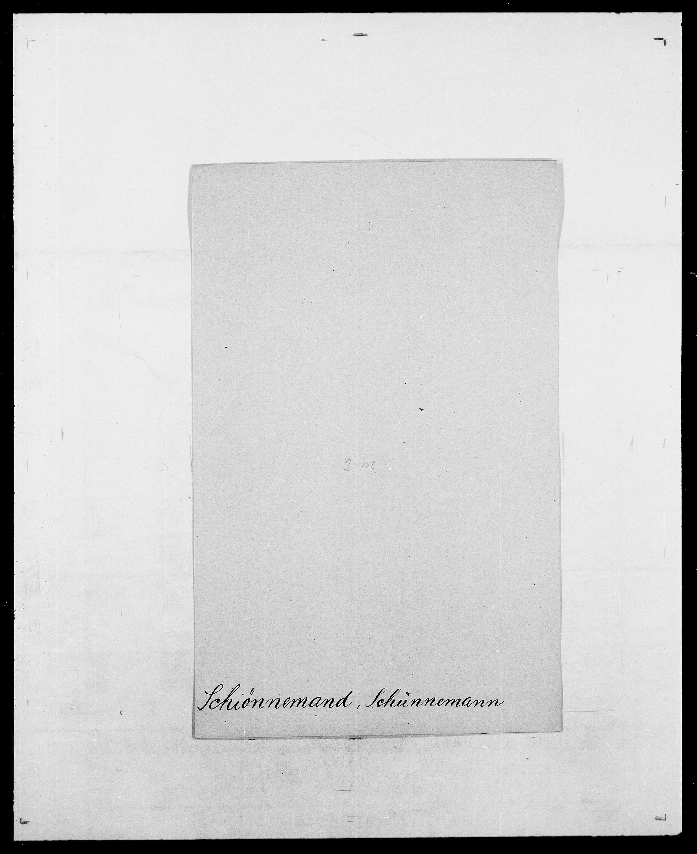 SAO, Delgobe, Charles Antoine - samling, D/Da/L0034: Saabye - Schmincke, s. 601