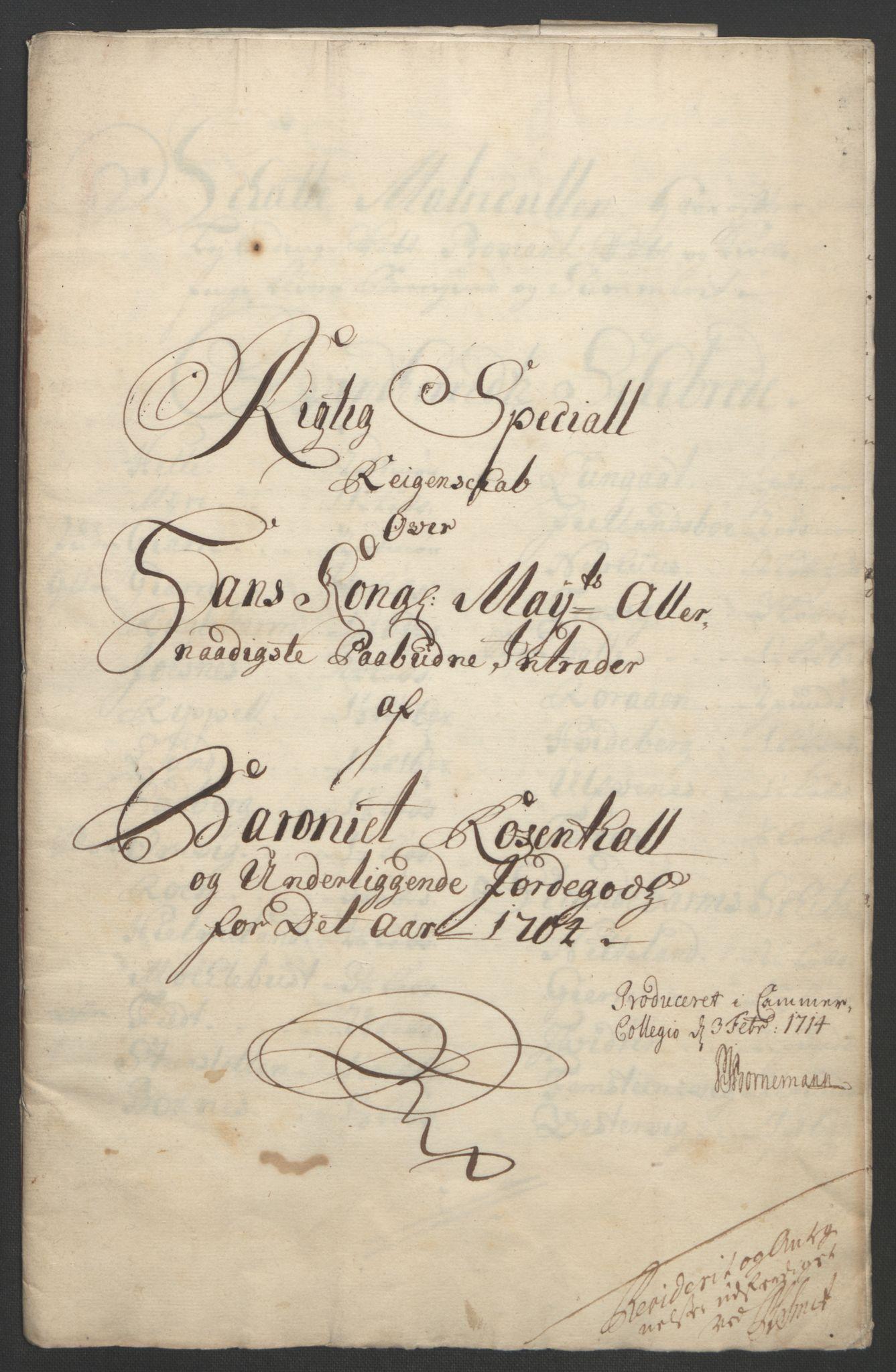 RA, Rentekammeret inntil 1814, Reviderte regnskaper, Fogderegnskap, R49/L3138: Fogderegnskap Rosendal Baroni, 1691-1714, s. 149