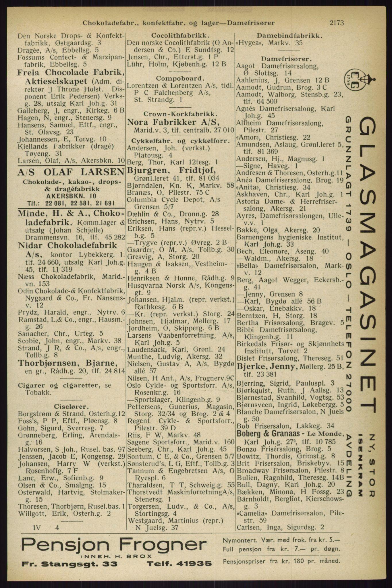 PUBL, Kristiania/Oslo adressebok, 1933, s. 2173