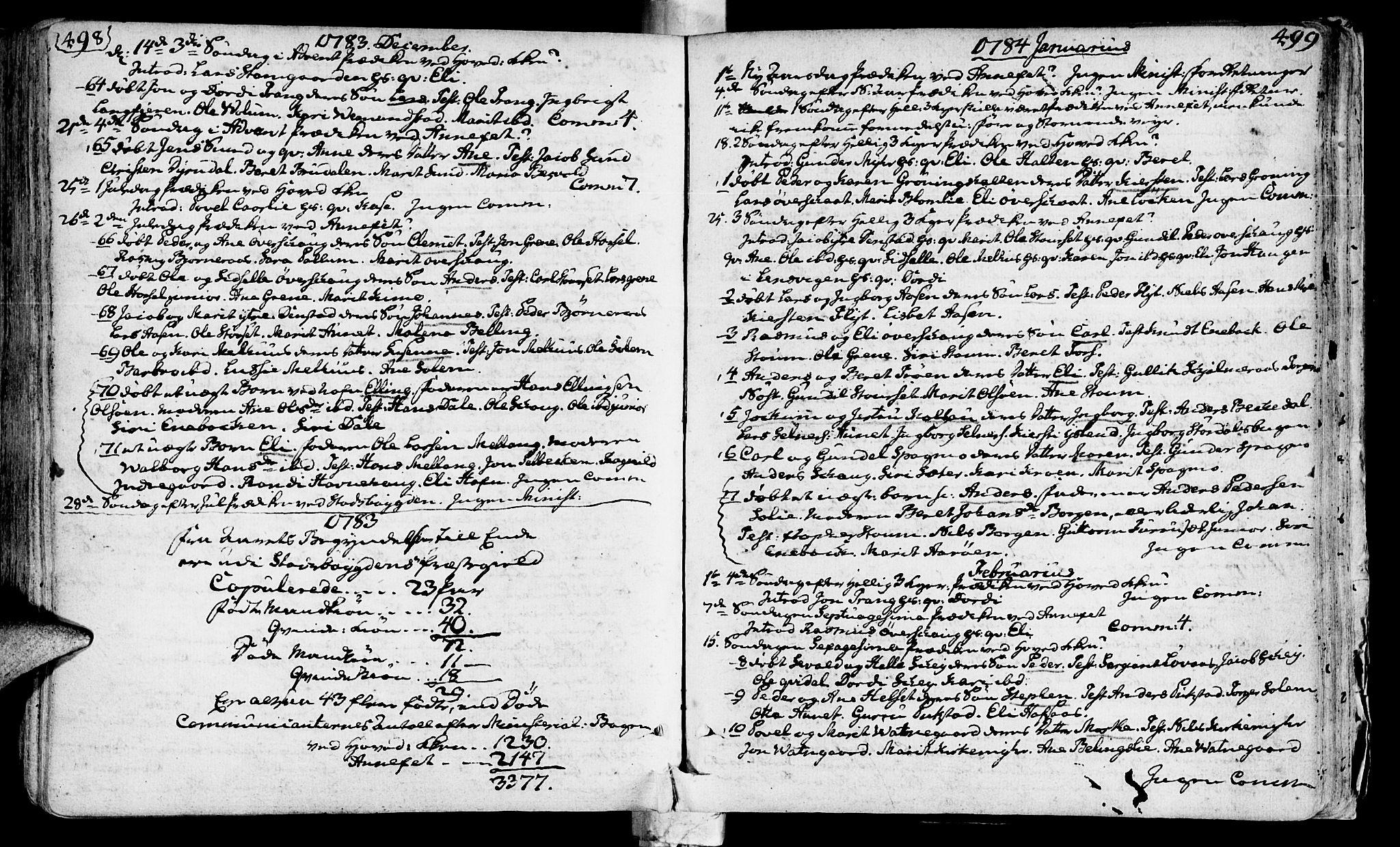 SAT, Ministerialprotokoller, klokkerbøker og fødselsregistre - Sør-Trøndelag, 646/L0605: Ministerialbok nr. 646A03, 1751-1790, s. 498-499