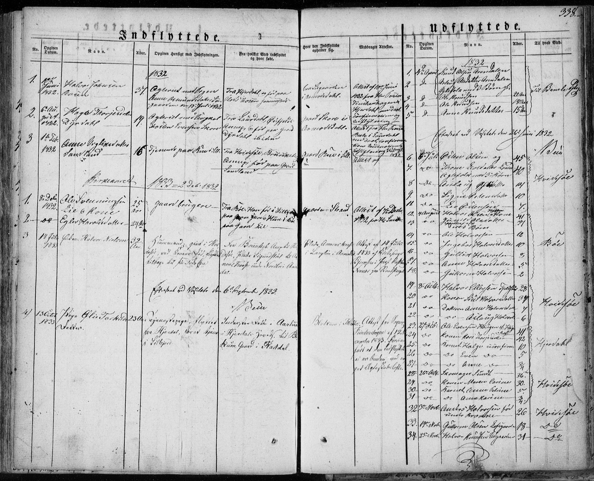 SAKO, Seljord kirkebøker, F/Fa/L0011: Ministerialbok nr. I 11, 1831-1849, s. 338