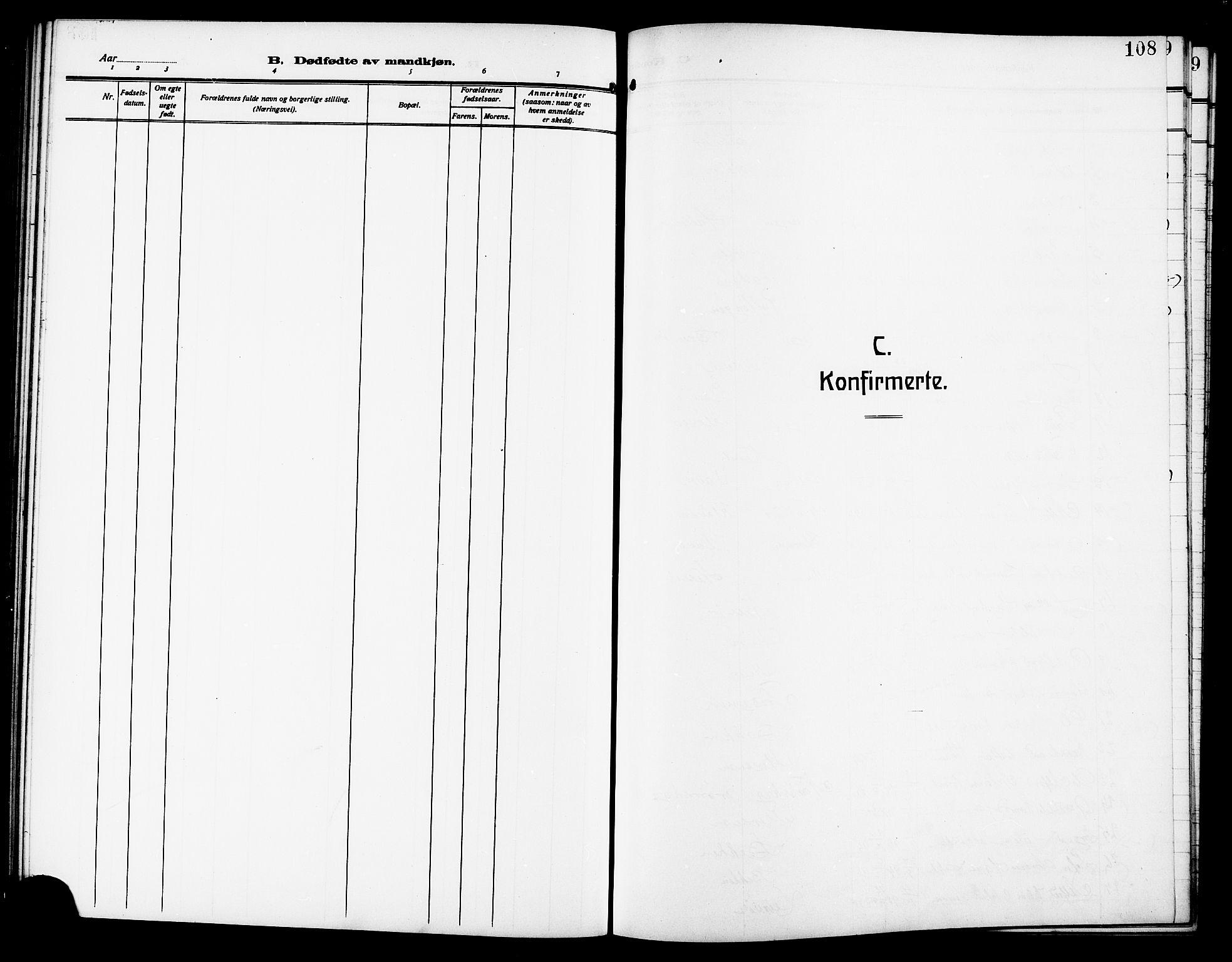SAT, Ministerialprotokoller, klokkerbøker og fødselsregistre - Sør-Trøndelag, 640/L0588: Klokkerbok nr. 640C05, 1909-1922, s. 108