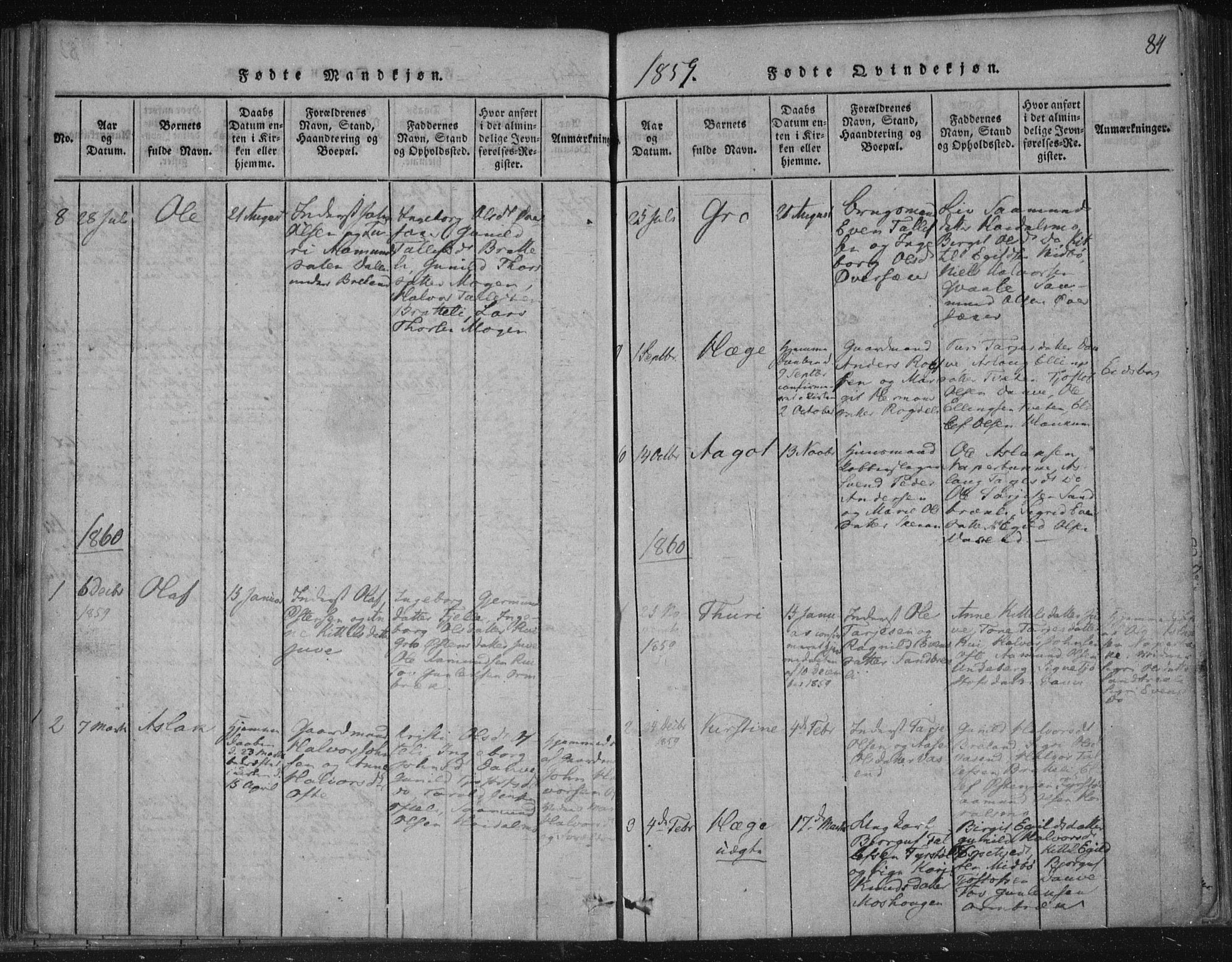 SAKO, Lårdal kirkebøker, F/Fc/L0001: Ministerialbok nr. III 1, 1815-1860, s. 84