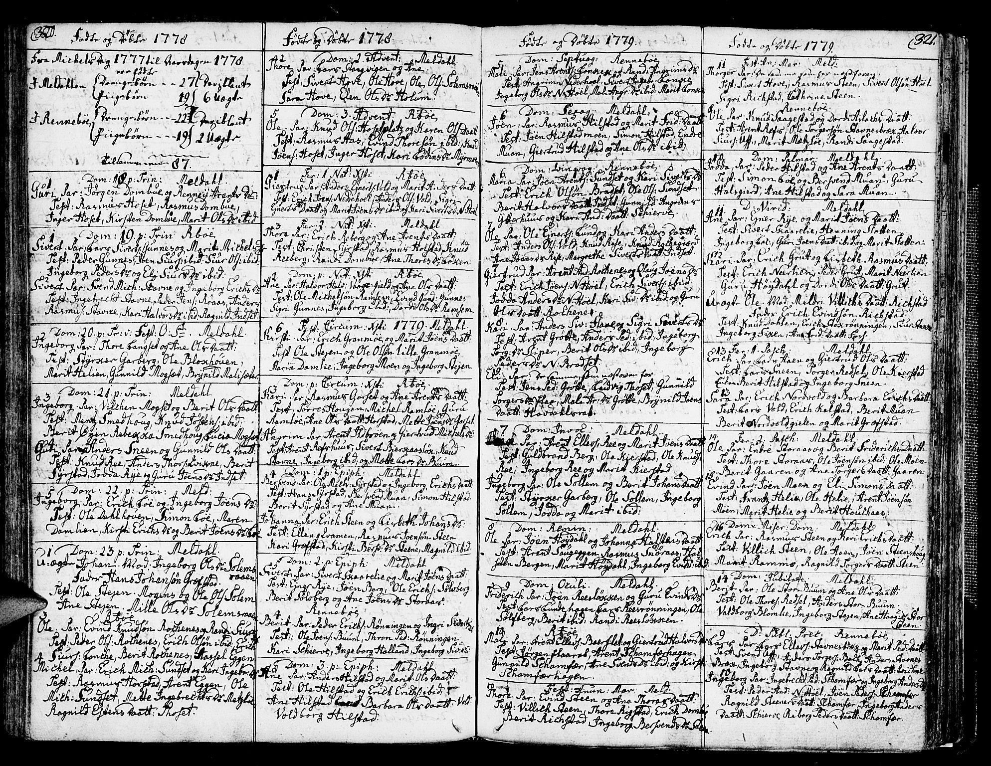 SAT, Ministerialprotokoller, klokkerbøker og fødselsregistre - Sør-Trøndelag, 672/L0852: Ministerialbok nr. 672A05, 1776-1815, s. 320-321