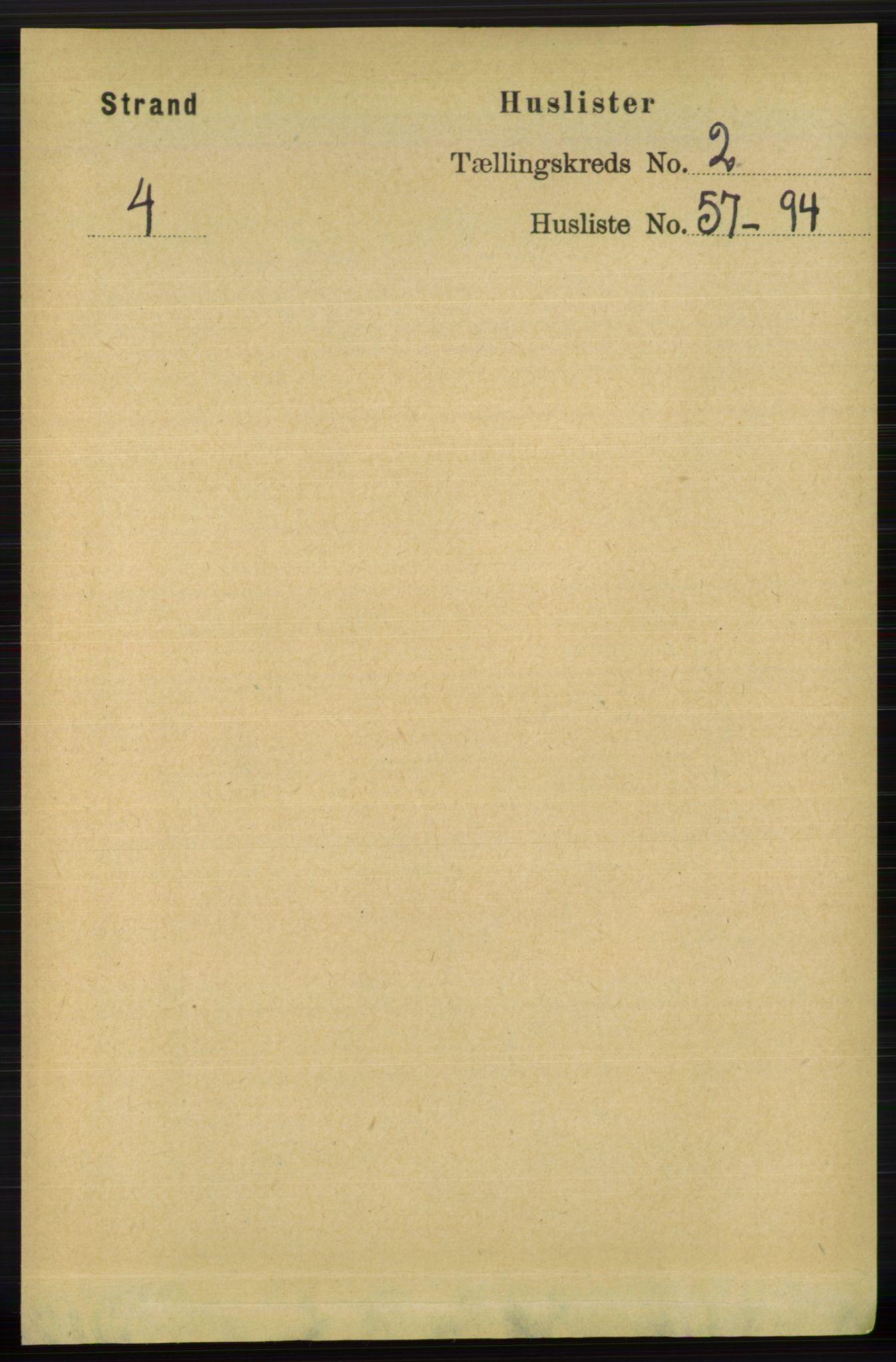 RA, Folketelling 1891 for 1130 Strand herred, 1891, s. 409