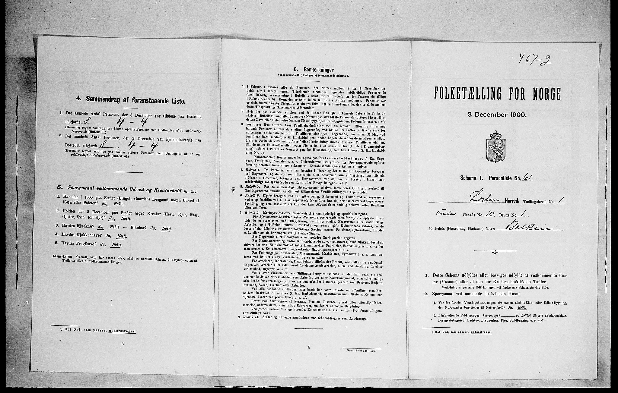 SAH, Folketelling 1900 for 0415 Løten herred, 1900, s. 270