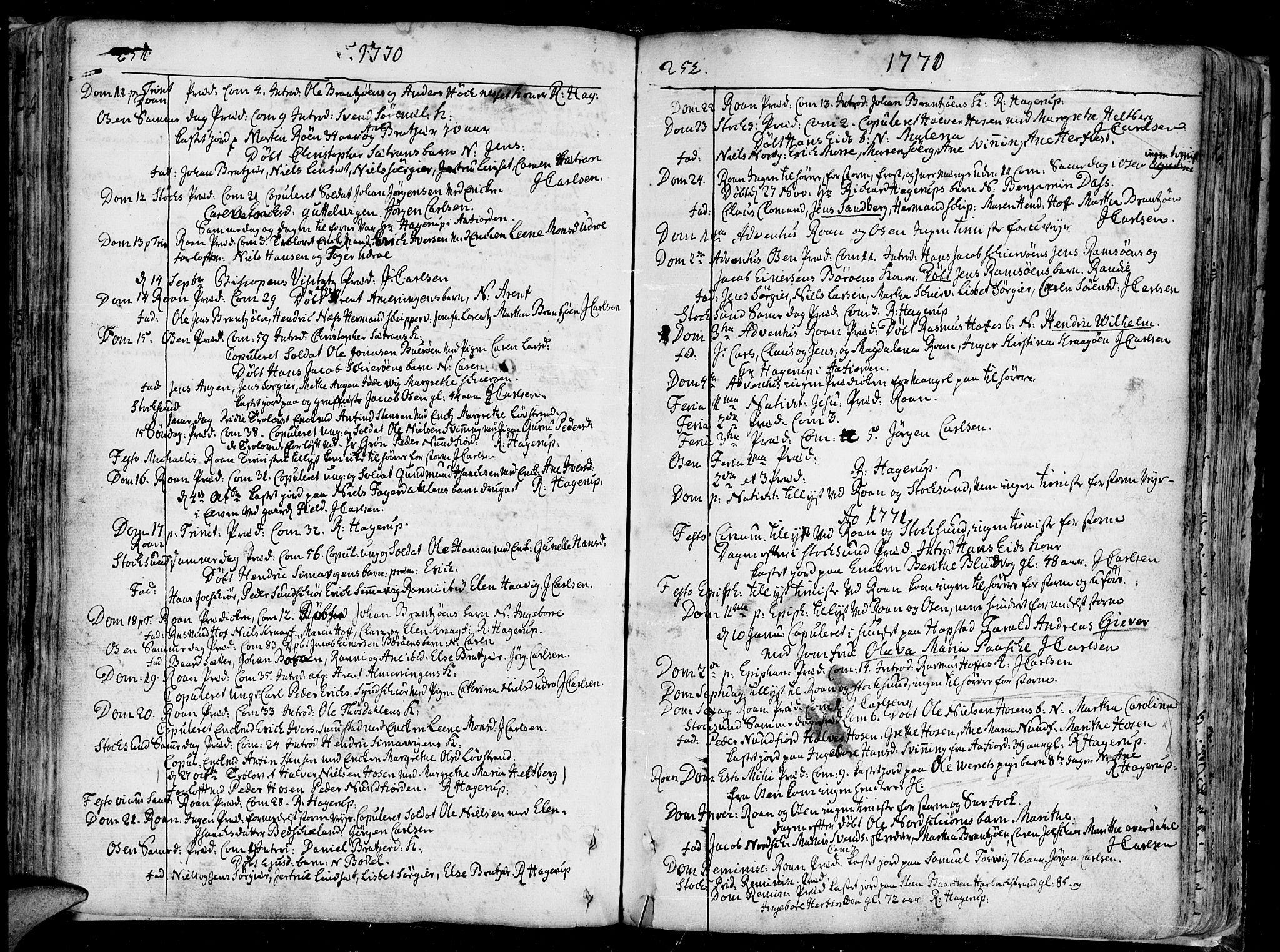 SAT, Ministerialprotokoller, klokkerbøker og fødselsregistre - Sør-Trøndelag, 657/L0700: Ministerialbok nr. 657A01, 1732-1801, s. 251-252