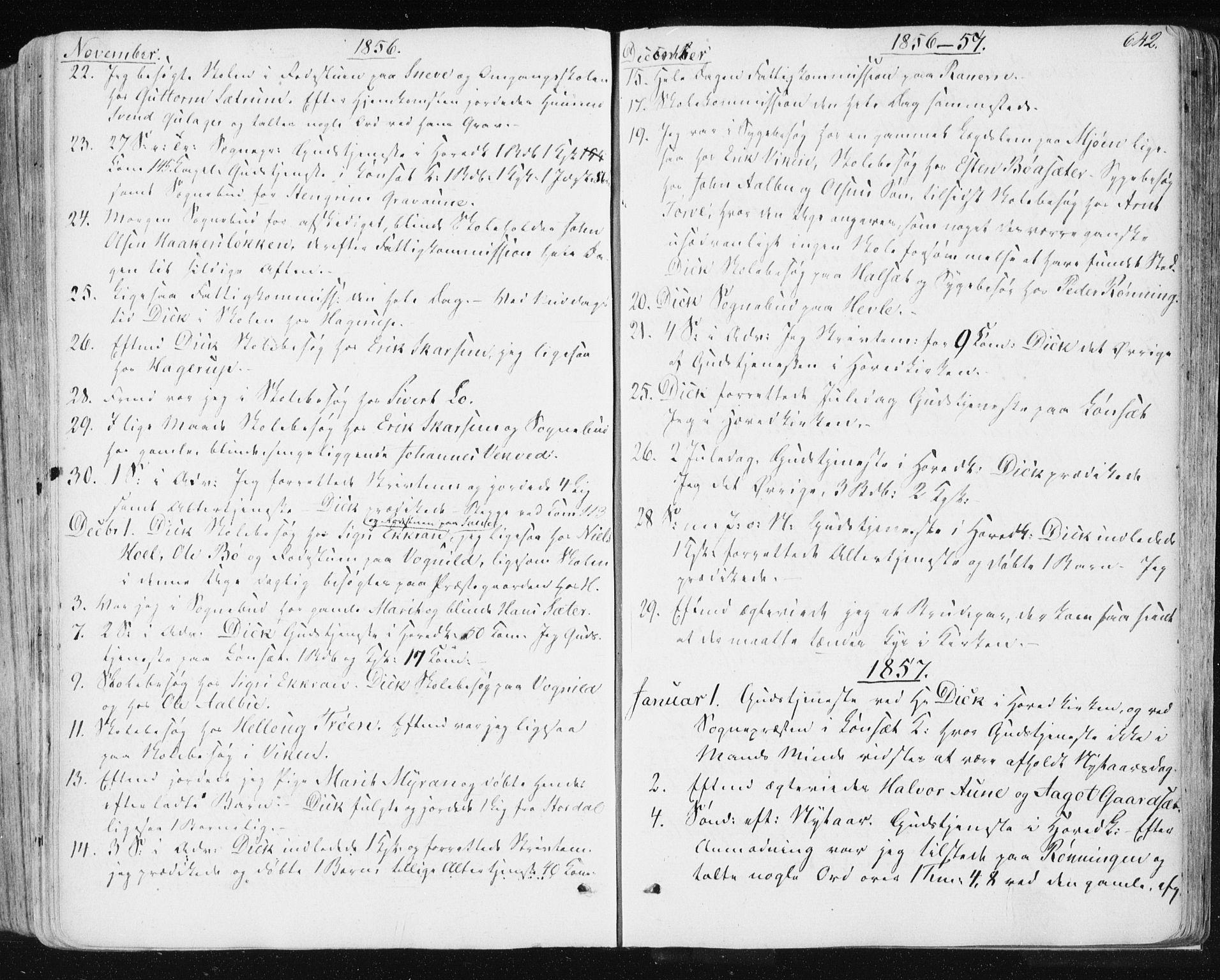 SAT, Ministerialprotokoller, klokkerbøker og fødselsregistre - Sør-Trøndelag, 678/L0899: Ministerialbok nr. 678A08, 1848-1872, s. 642