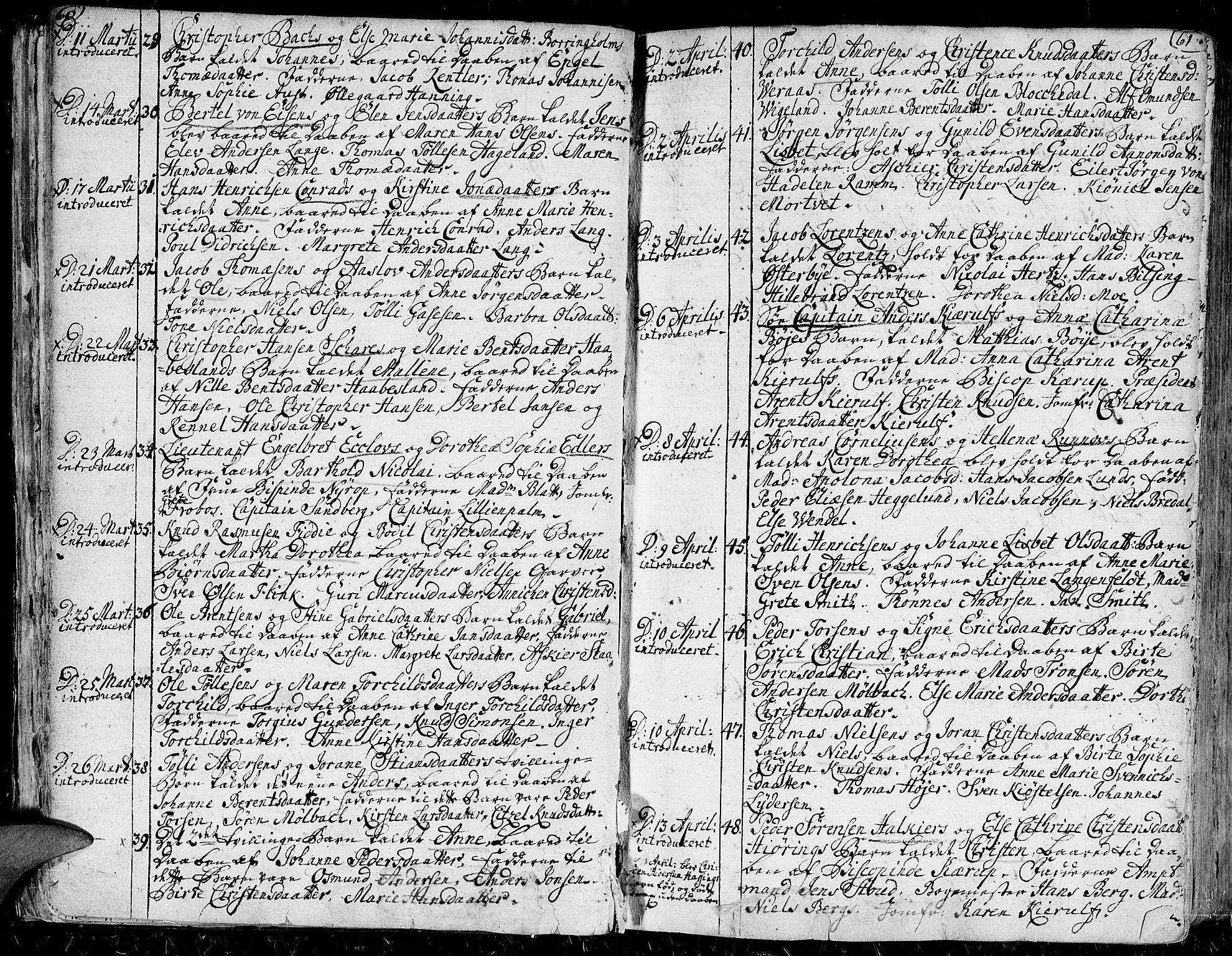 SAK, Kristiansand domprosti, F/Fa/L0001: Ministerialbok nr. A 1, 1734-1793, s. 60-61