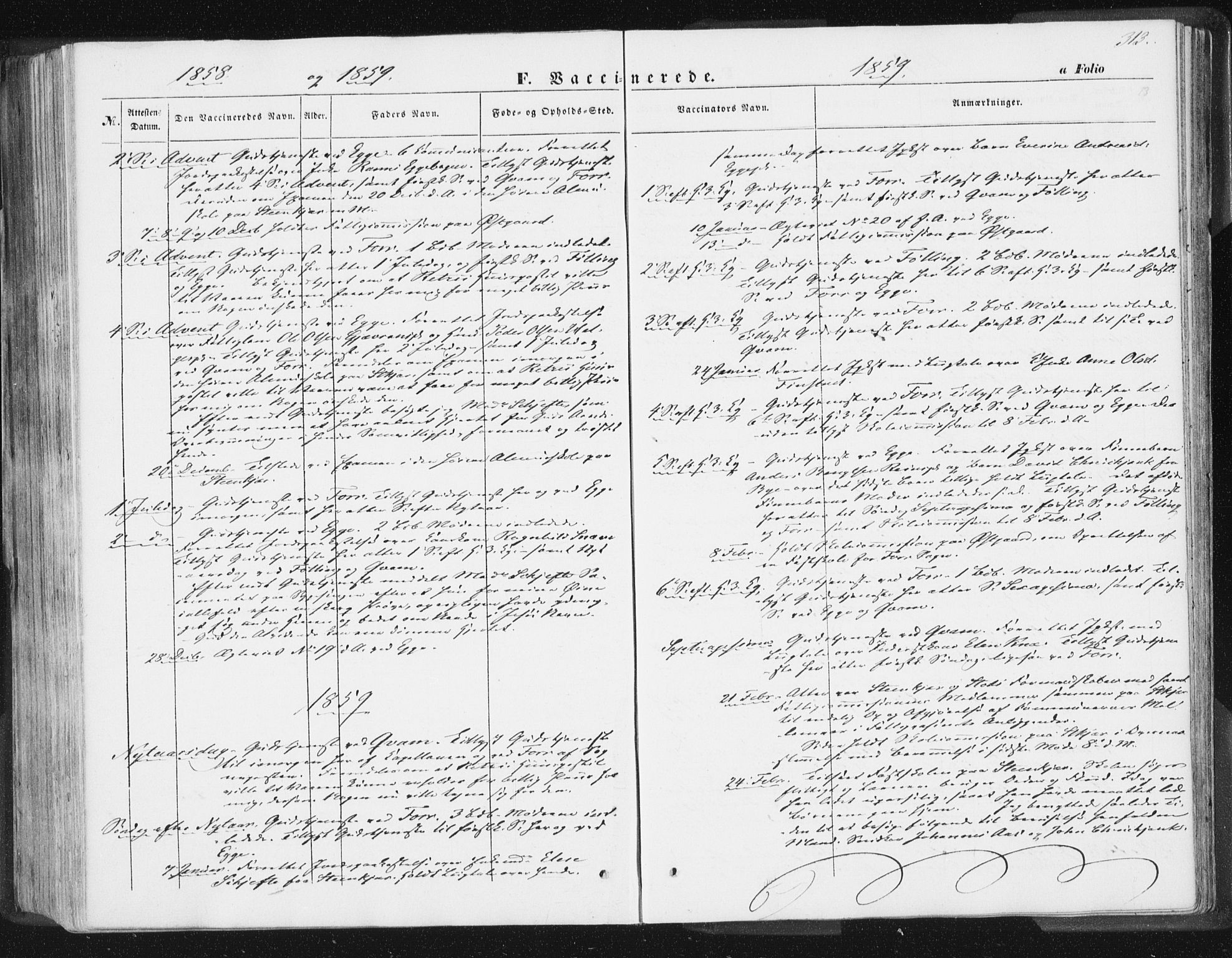 SAT, Ministerialprotokoller, klokkerbøker og fødselsregistre - Nord-Trøndelag, 746/L0446: Ministerialbok nr. 746A05, 1846-1859, s. 313