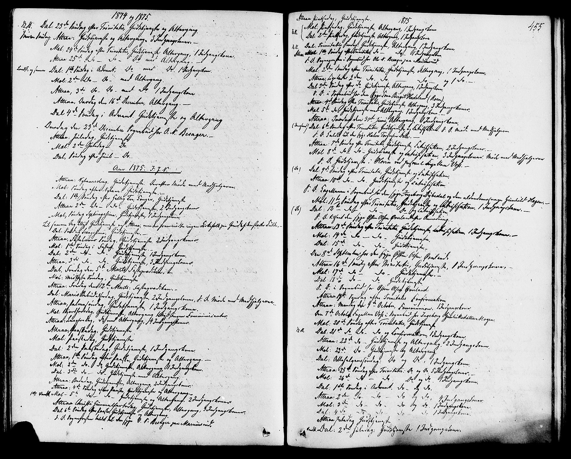 SAKO, Tinn kirkebøker, F/Fa/L0006: Ministerialbok nr. I 6, 1857-1878, s. 455