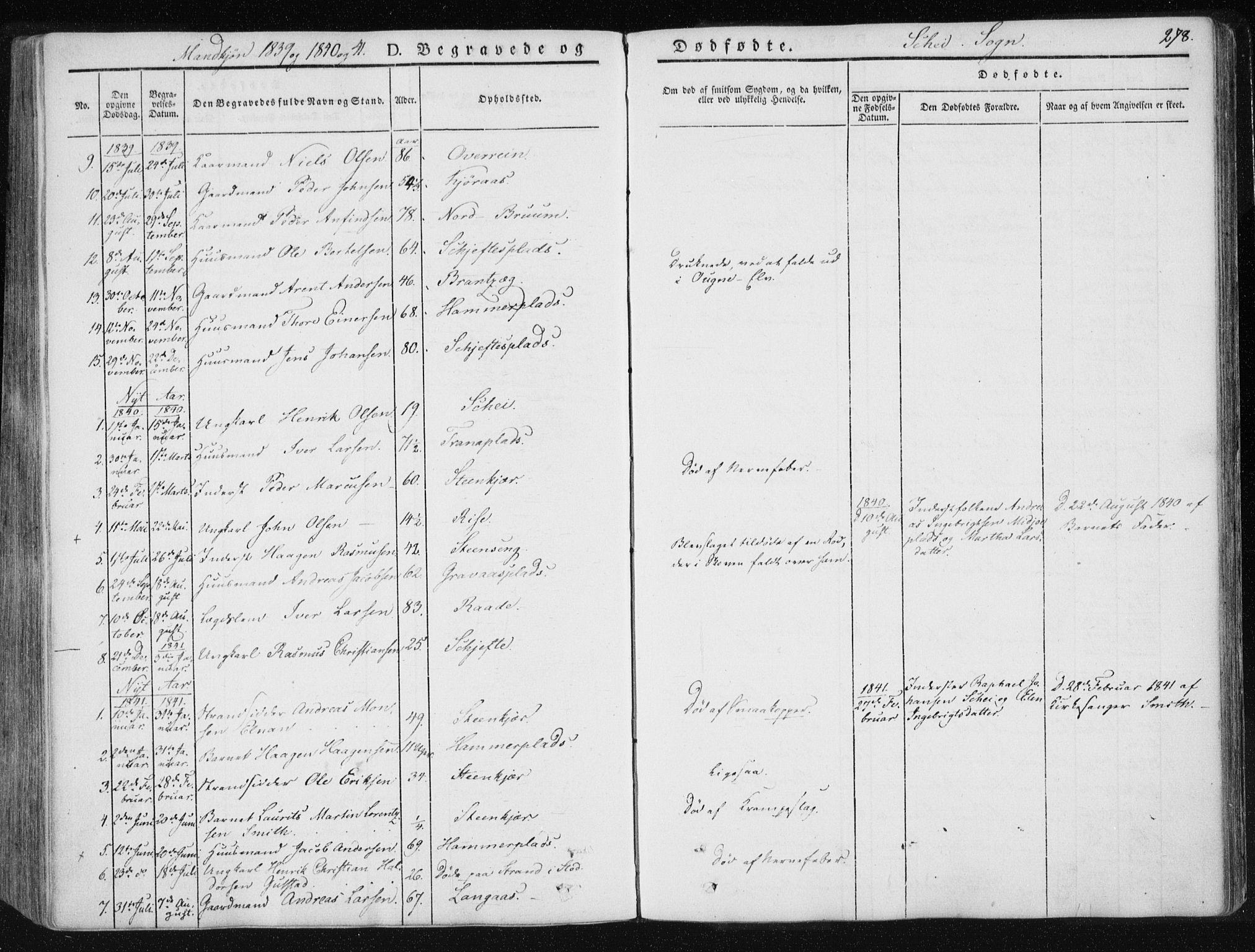 SAT, Ministerialprotokoller, klokkerbøker og fødselsregistre - Nord-Trøndelag, 735/L0339: Ministerialbok nr. 735A06 /2, 1836-1848, s. 278