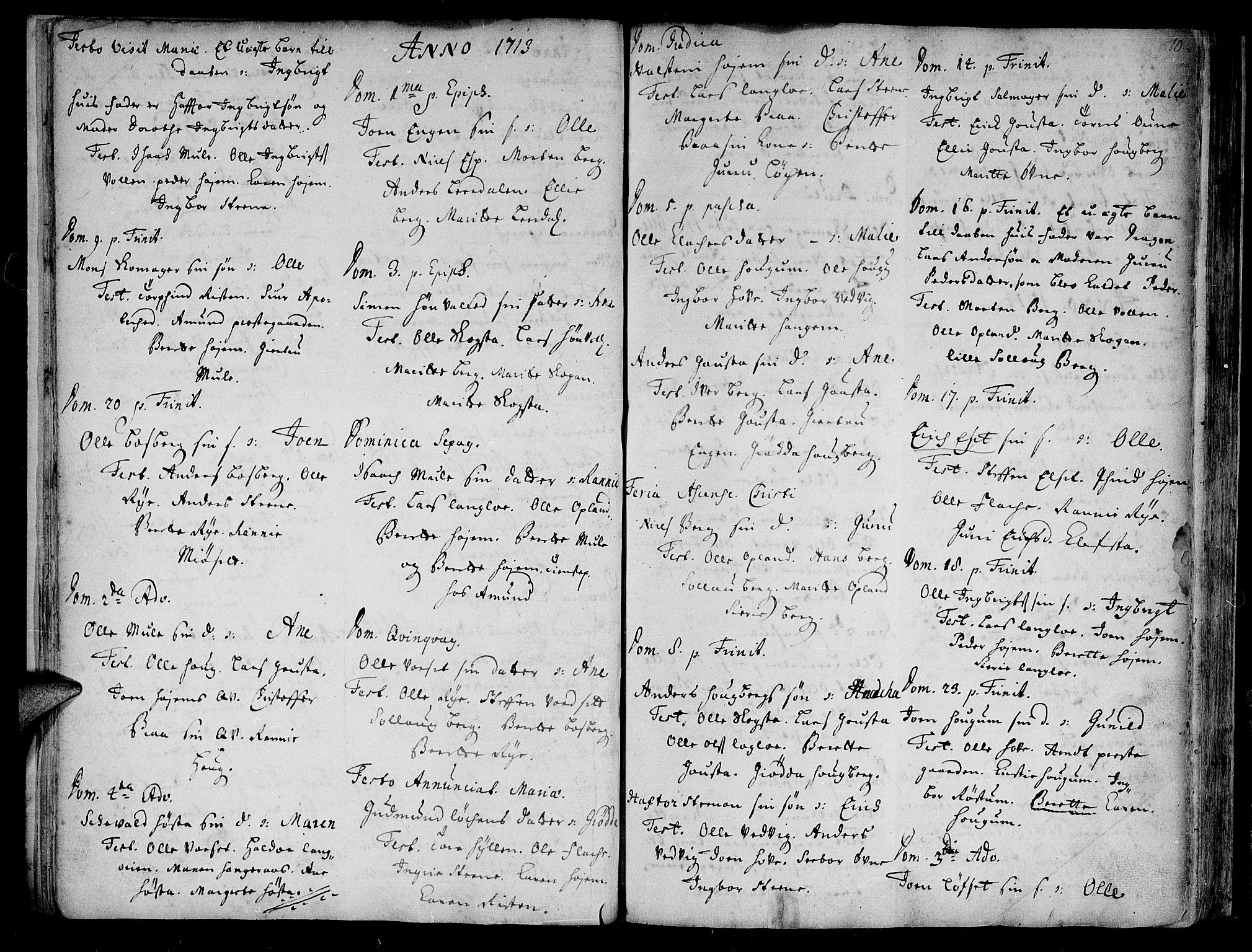 SAT, Ministerialprotokoller, klokkerbøker og fødselsregistre - Sør-Trøndelag, 612/L0368: Ministerialbok nr. 612A02, 1702-1753, s. 10