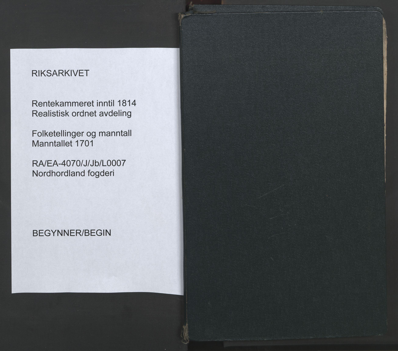 RA, Manntallet 1701, nr. 7: Nordhordland og Voss fogderi, 1701