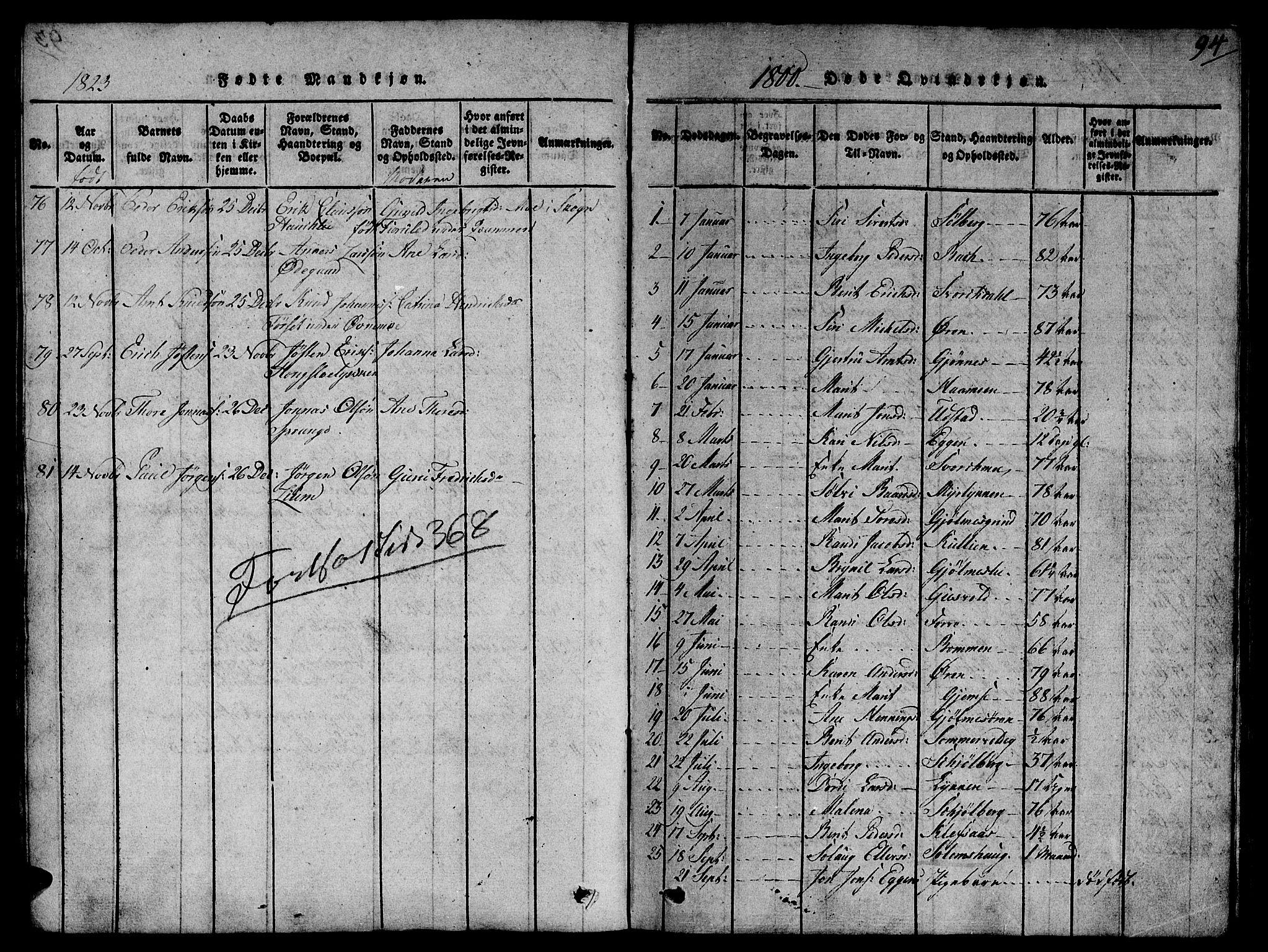 SAT, Ministerialprotokoller, klokkerbøker og fødselsregistre - Sør-Trøndelag, 668/L0803: Ministerialbok nr. 668A03, 1800-1826, s. 94
