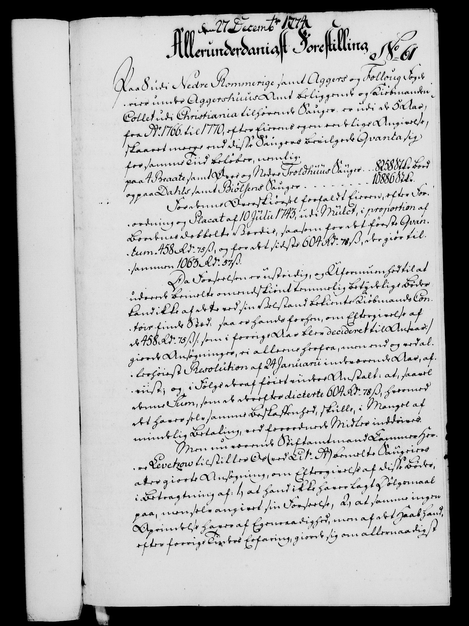 RA, Rentekammeret, Kammerkanselliet, G/Gf/Gfa/L0056: Norsk relasjons- og resolusjonsprotokoll (merket RK 52.56), 1774, s. 259