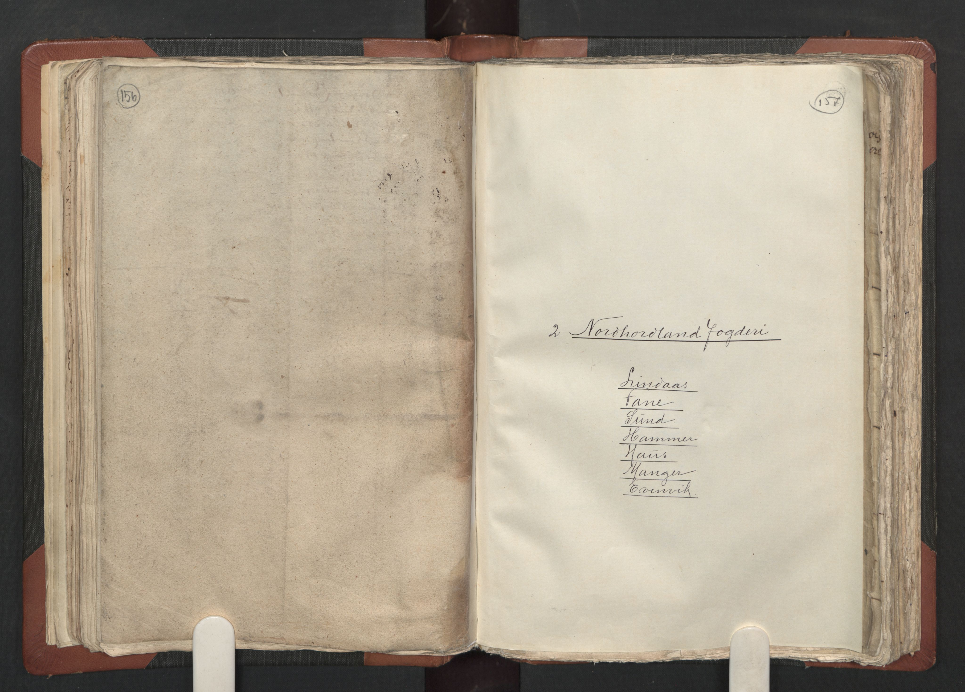 RA, Fogdenes og sorenskrivernes manntall 1664-1666, nr. 13: Nordhordland fogderi og Sunnhordland fogderi, 1665, s. 156-157