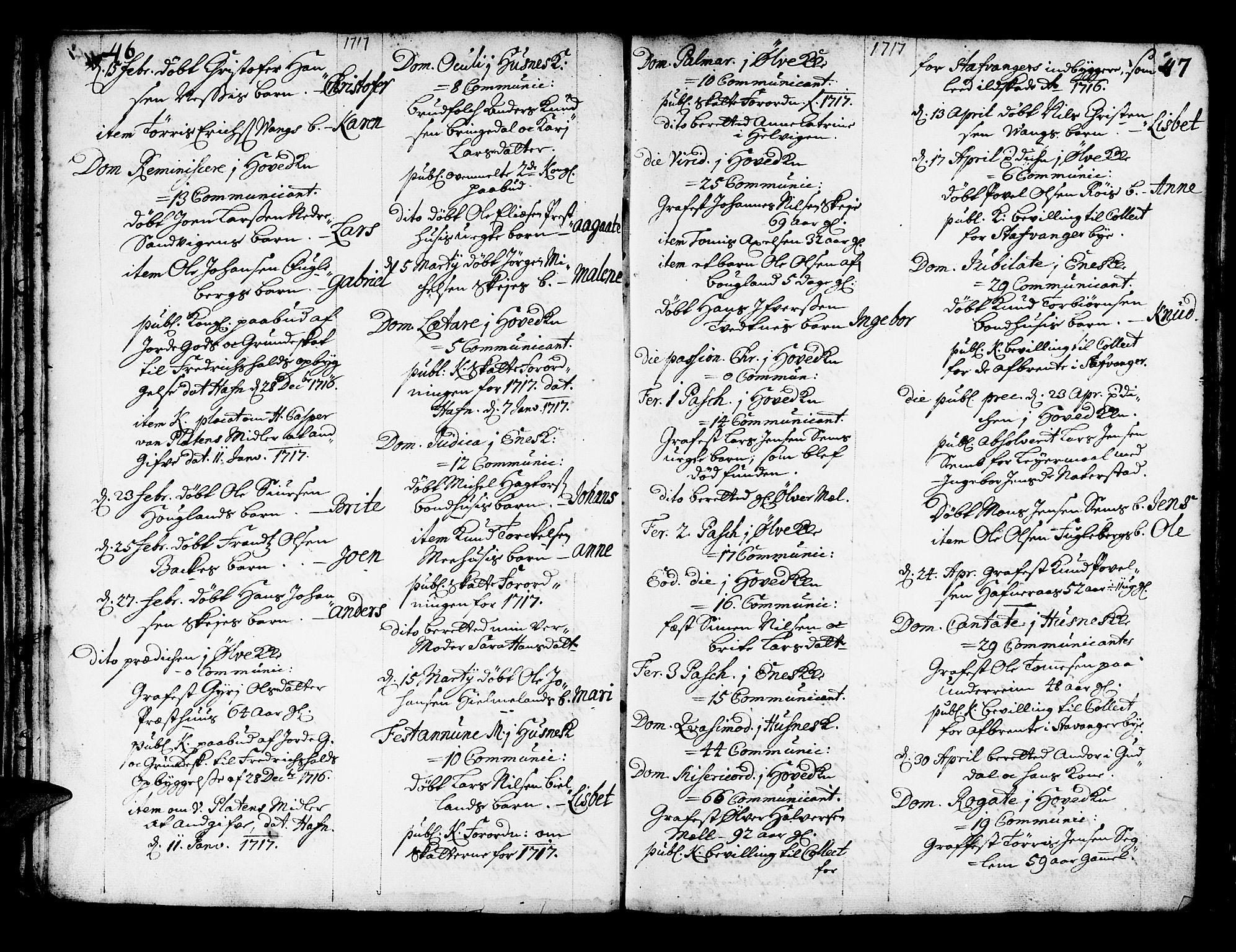 SAB, Kvinnherad Sokneprestembete, H/Haa: Ministerialbok nr. A 2, 1710-1753, s. 46-47