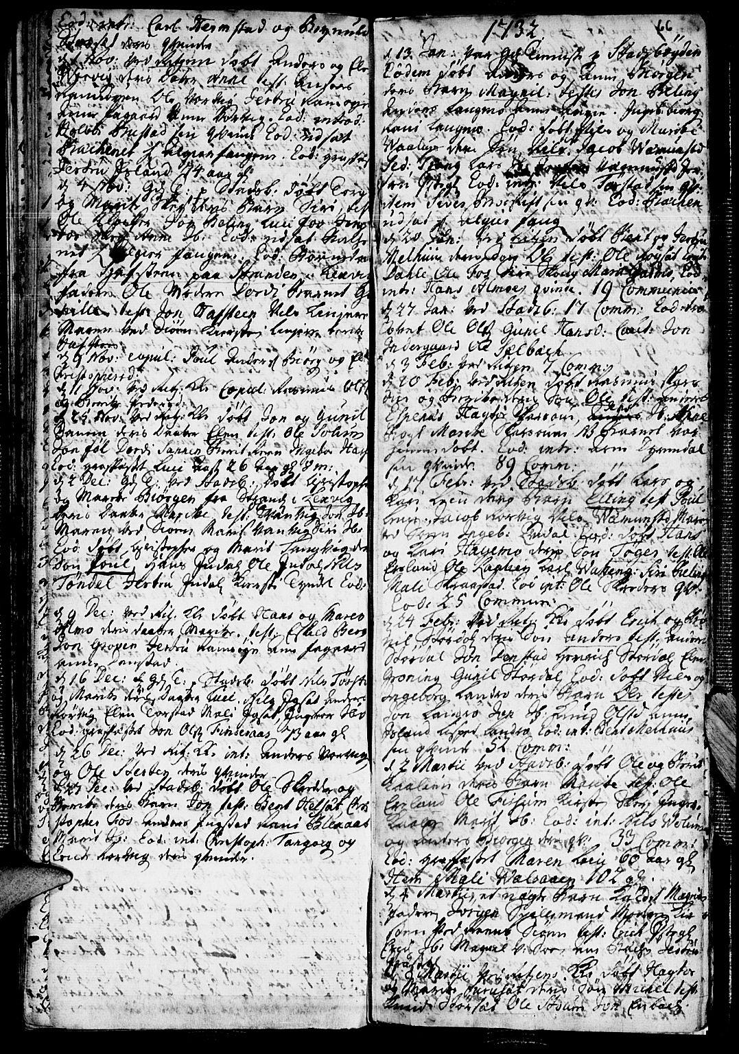 SAT, Ministerialprotokoller, klokkerbøker og fødselsregistre - Sør-Trøndelag, 646/L0603: Ministerialbok nr. 646A01, 1700-1734, s. 66