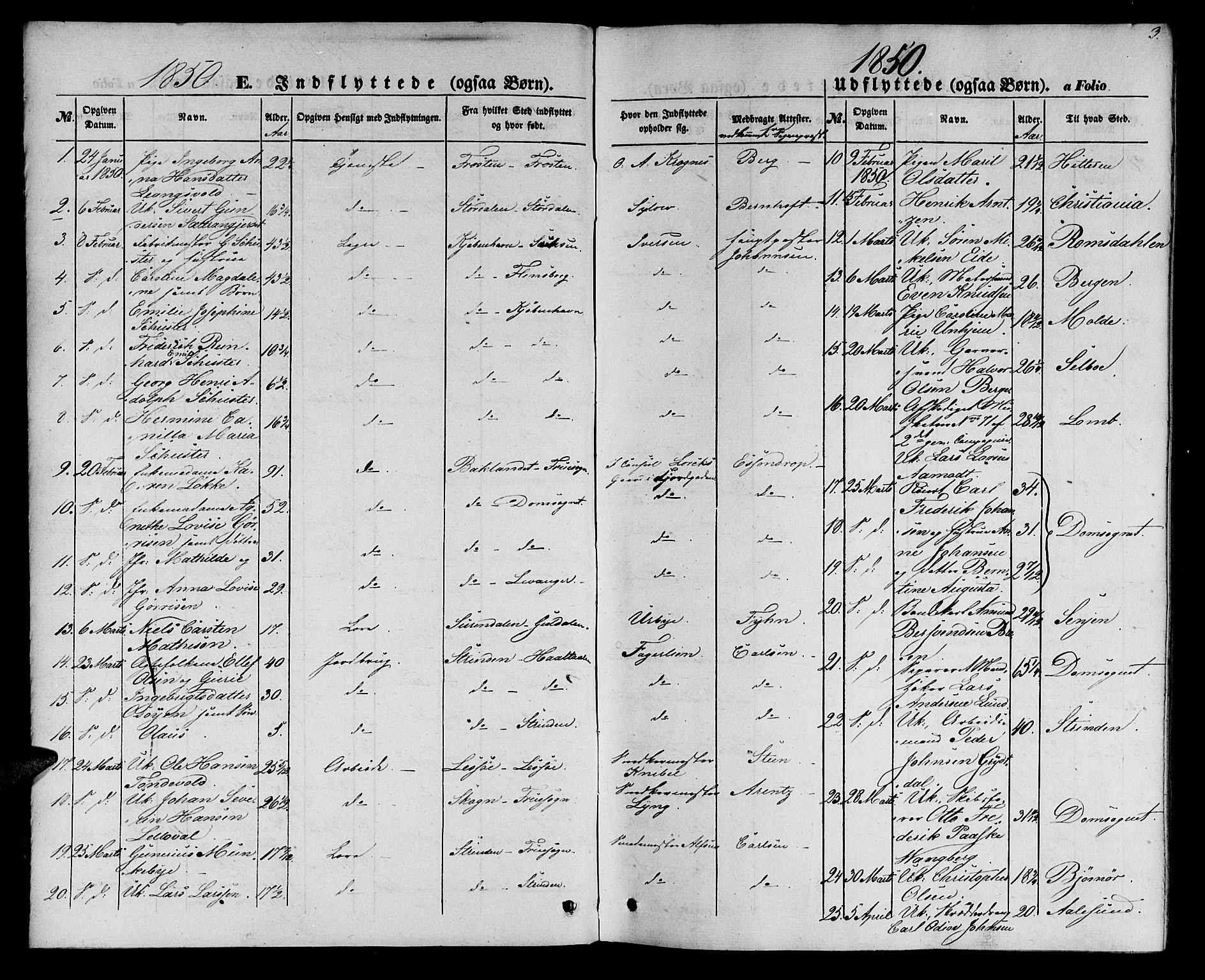 SAT, Ministerialprotokoller, klokkerbøker og fødselsregistre - Sør-Trøndelag, 602/L0113: Ministerialbok nr. 602A11, 1849-1861, s. 3