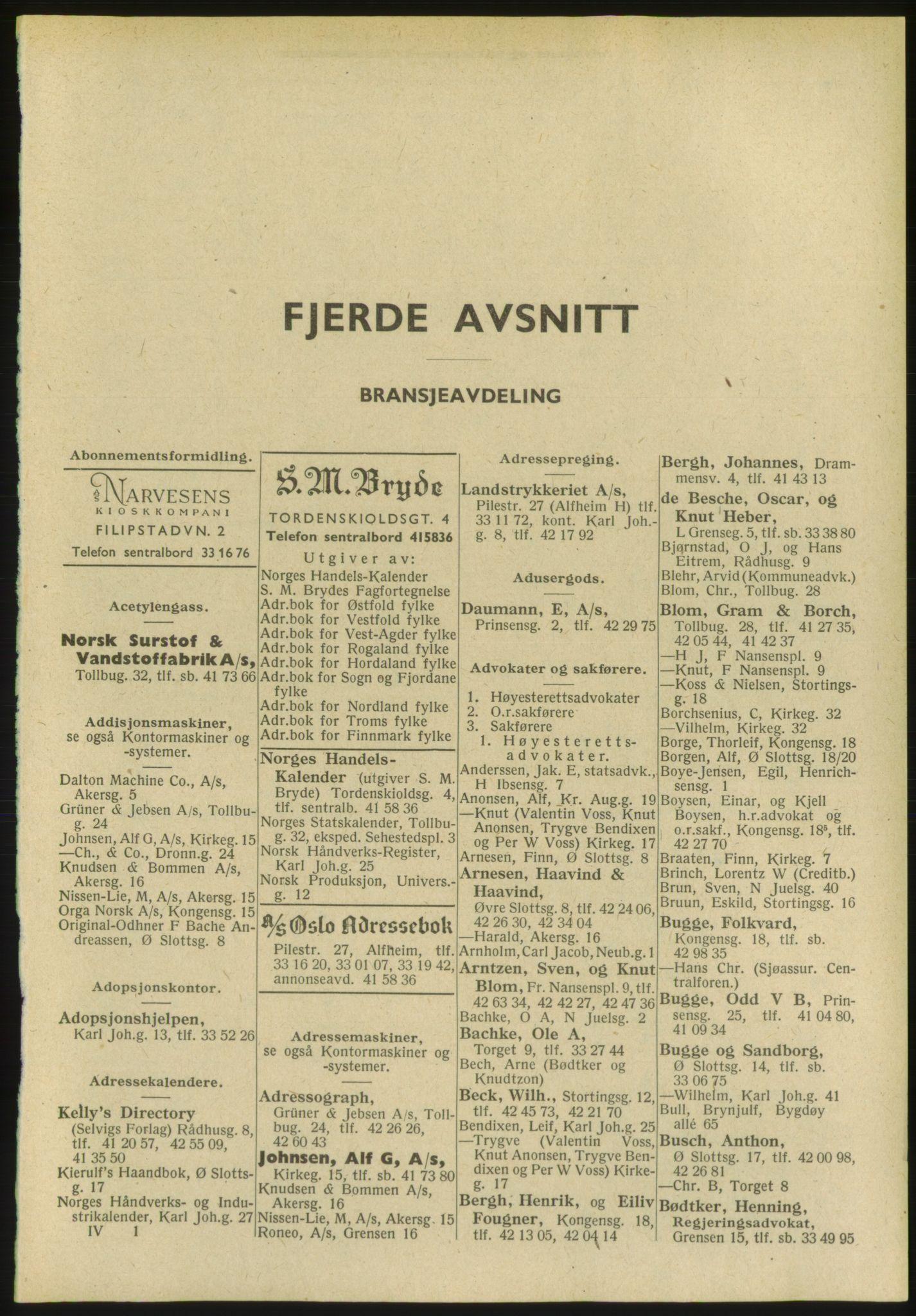 PUBL, Kristiania/Oslo adressebok, 1951, s. 2373