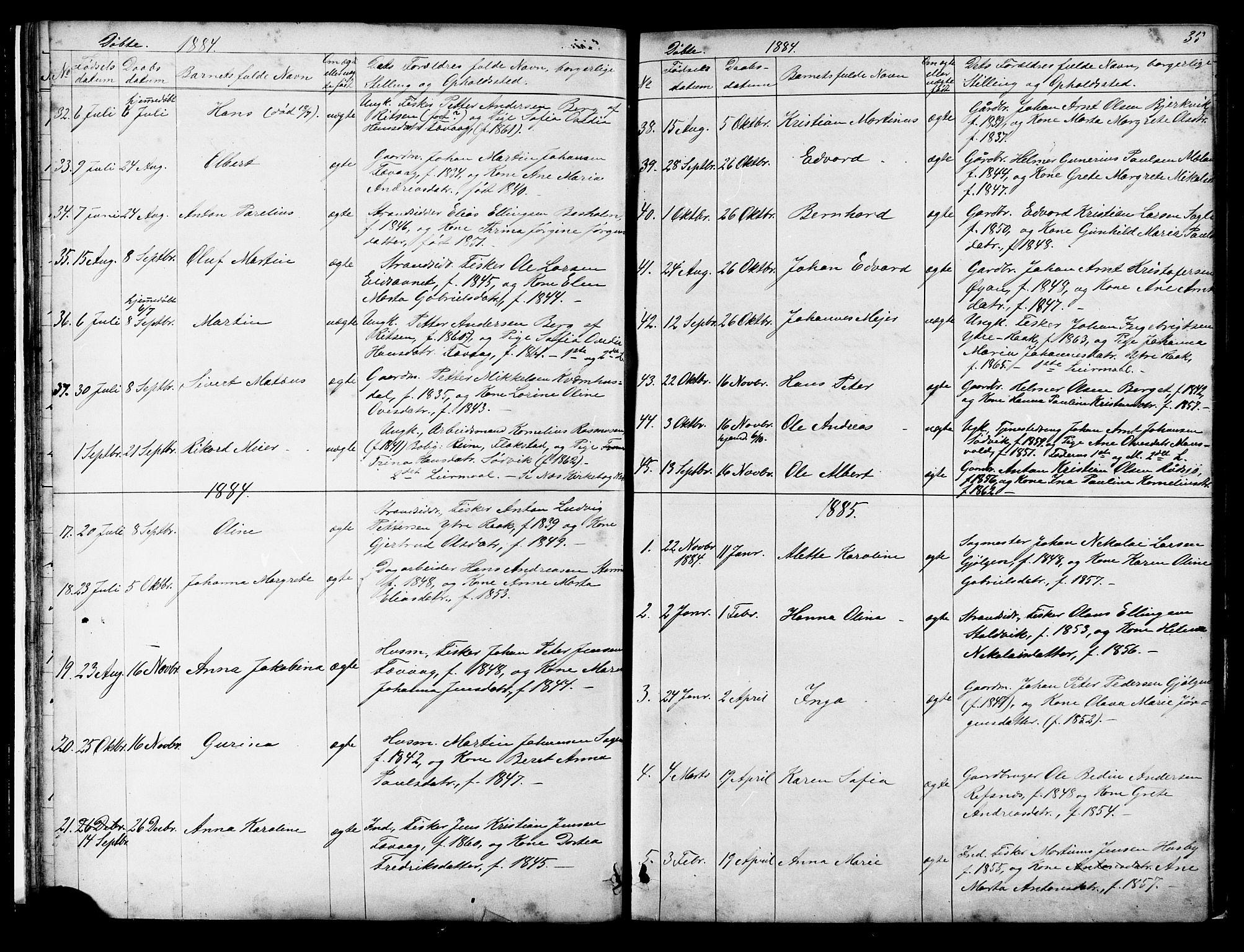 SAT, Ministerialprotokoller, klokkerbøker og fødselsregistre - Sør-Trøndelag, 653/L0657: Klokkerbok nr. 653C01, 1866-1893, s. 35