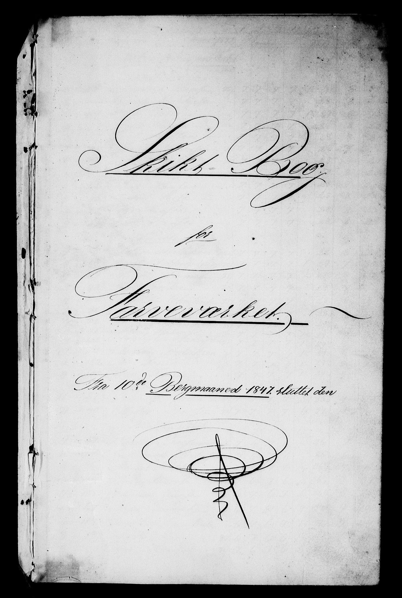 RA, Modums Blaafarveværk, G/Gd/Gdb/L0206: Schigt-Bog ved Modums Blaafarveverk (Regning over utgiftene ved farveverket), 1847-1853, s. 2