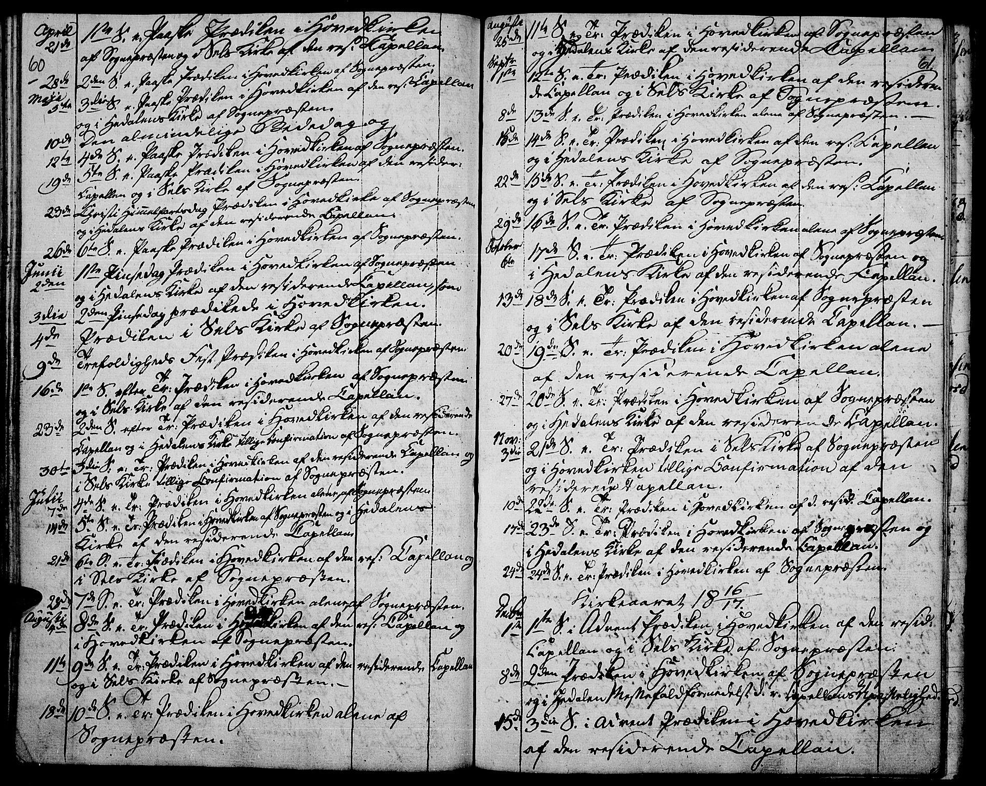 SAH, Vågå prestekontor, Ministerialbok nr. 2, 1810-1815, s. 60-61