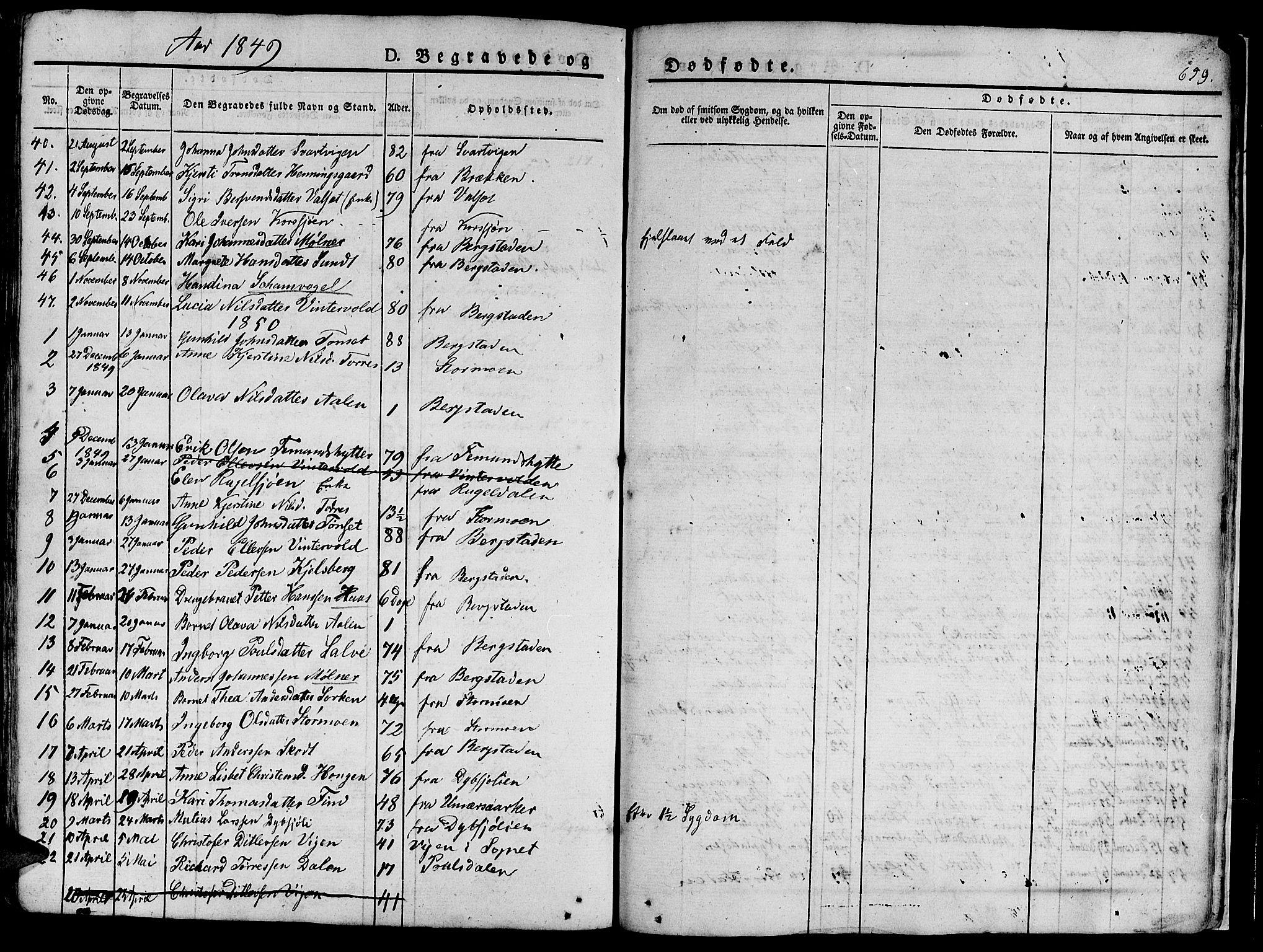 SAT, Ministerialprotokoller, klokkerbøker og fødselsregistre - Sør-Trøndelag, 681/L0939: Klokkerbok nr. 681C03, 1829-1855, s. 659