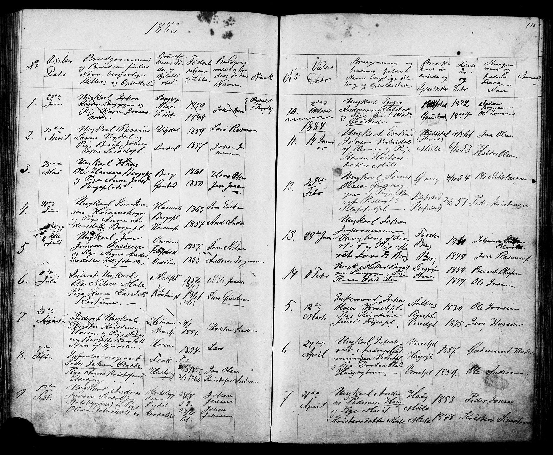 SAT, Ministerialprotokoller, klokkerbøker og fødselsregistre - Sør-Trøndelag, 612/L0387: Klokkerbok nr. 612C03, 1874-1908, s. 178