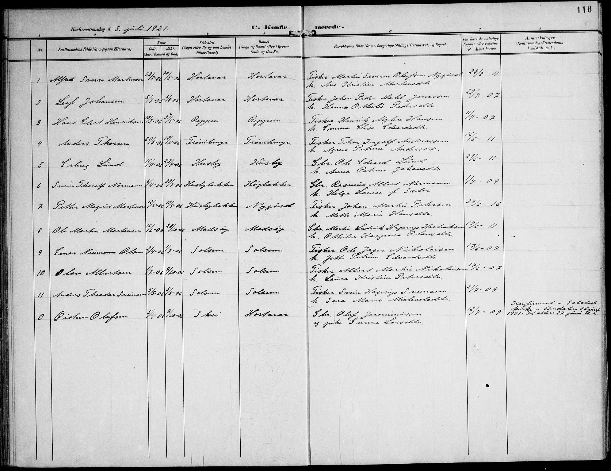 SAT, Ministerialprotokoller, klokkerbøker og fødselsregistre - Nord-Trøndelag, 788/L0698: Ministerialbok nr. 788A05, 1902-1921, s. 116