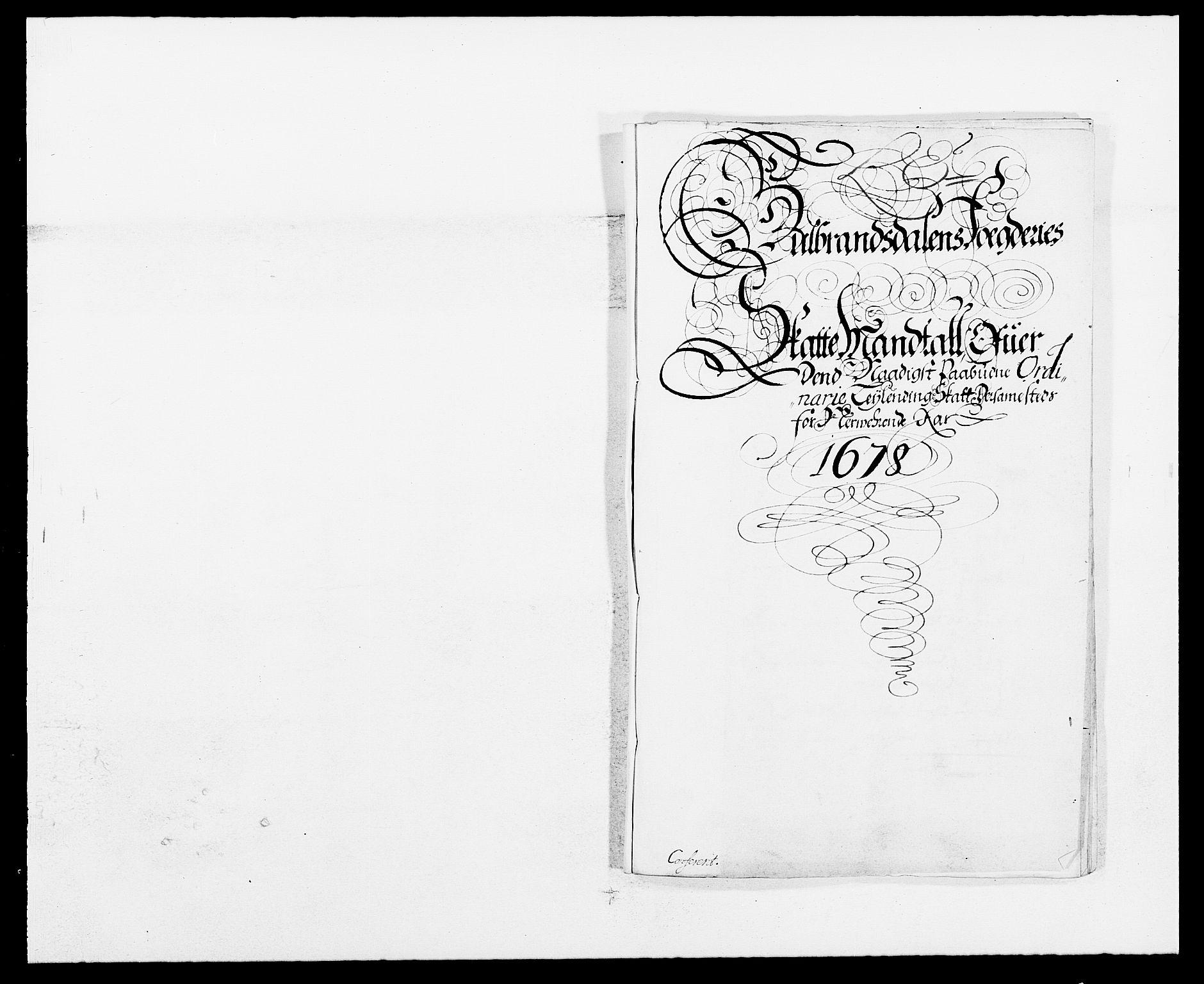 RA, Rentekammeret inntil 1814, Reviderte regnskaper, Fogderegnskap, R17/L1152: Fogderegnskap Gudbrandsdal, 1678-1679, s. 217
