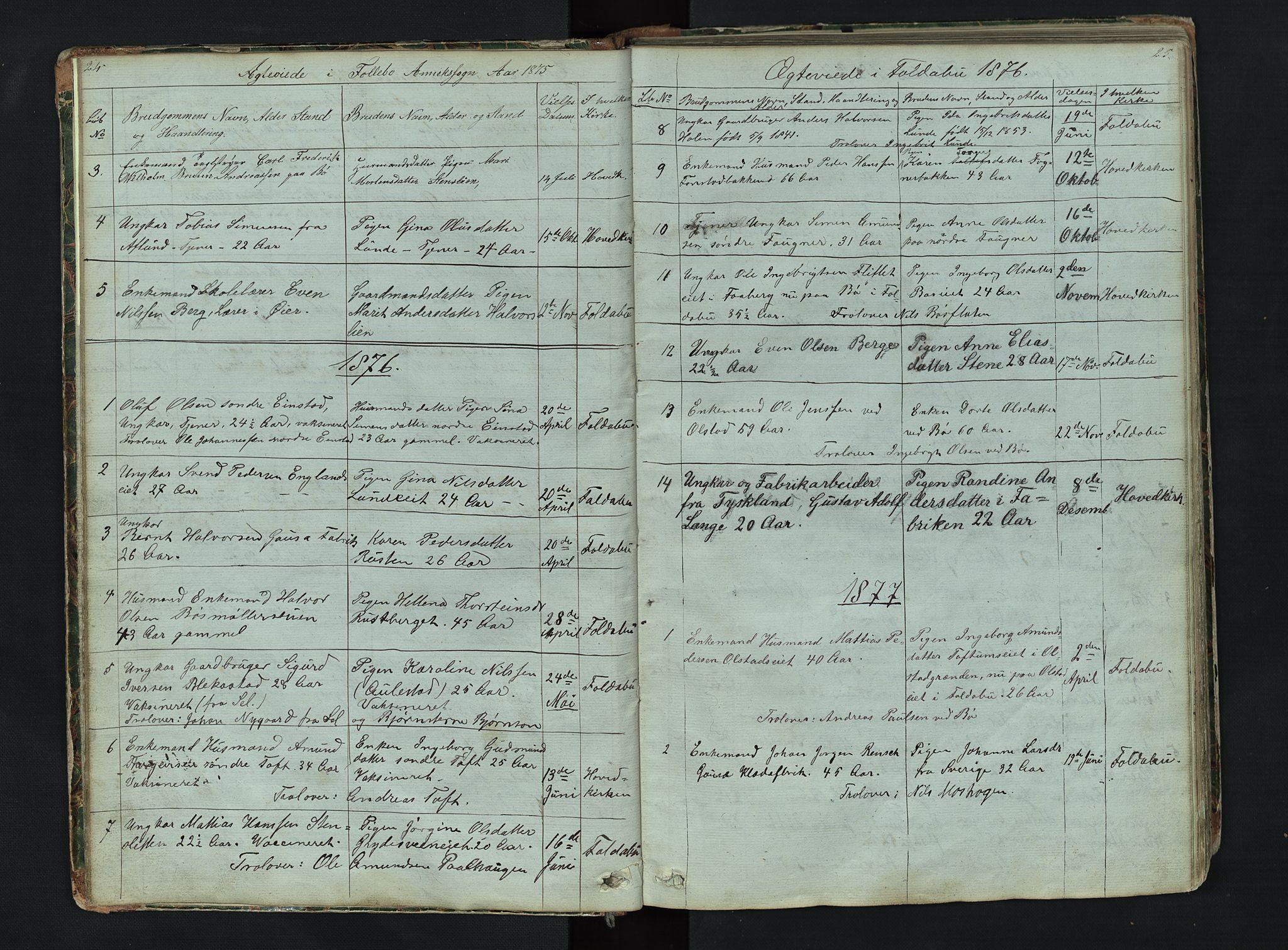 SAH, Gausdal prestekontor, Klokkerbok nr. 6, 1846-1893, s. 24-25