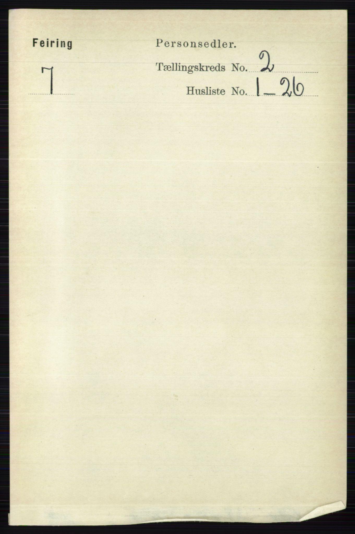 RA, Folketelling 1891 for 0240 Feiring herred, 1891, s. 760