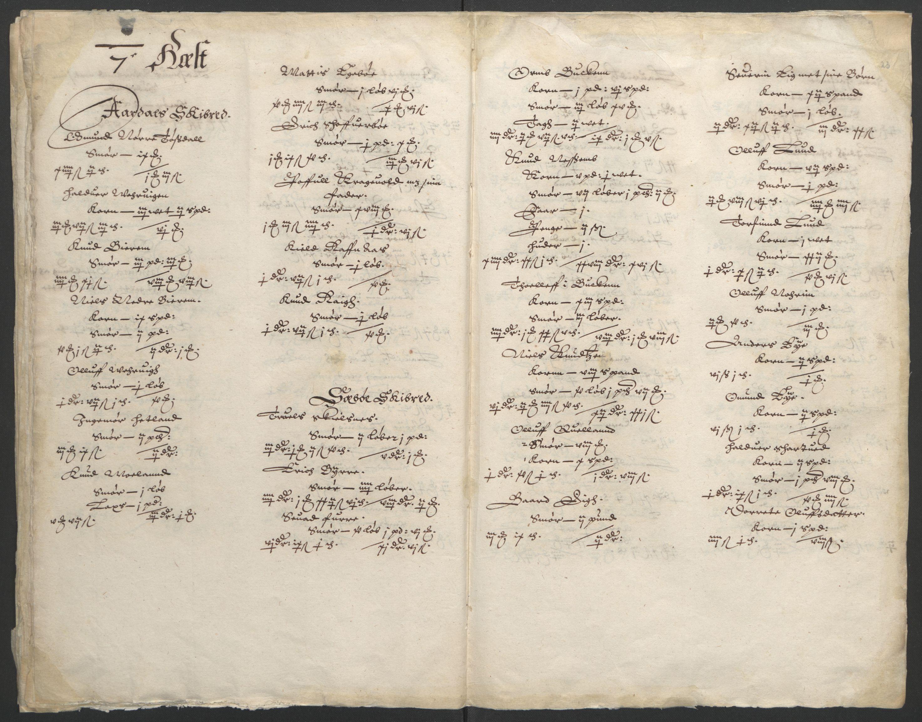 RA, Stattholderembetet 1572-1771, Ek/L0010: Jordebøker til utlikning av rosstjeneste 1624-1626:, 1624-1626, s. 88