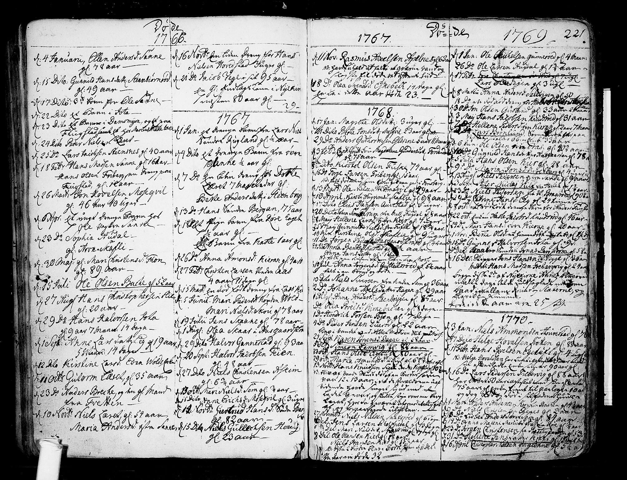 SAKO, Borre kirkebøker, F/Fa/L0002: Ministerialbok nr. I 2, 1752-1806, s. 221