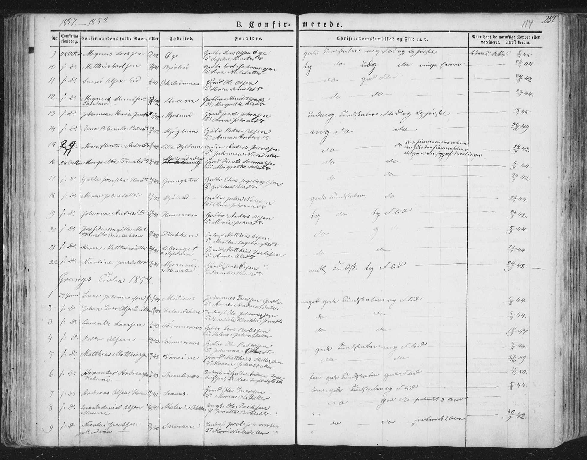 SAT, Ministerialprotokoller, klokkerbøker og fødselsregistre - Nord-Trøndelag, 758/L0513: Ministerialbok nr. 758A02 /1, 1839-1868, s. 114